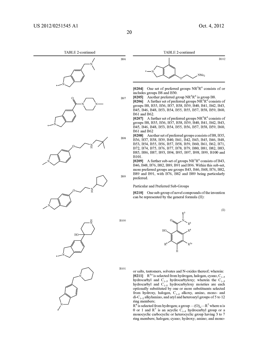 Therapeutic Combinations Of Hydroxybenzamide Derivatives As Inhibitors Of     HSP90 - diagram, schematic, and image 21