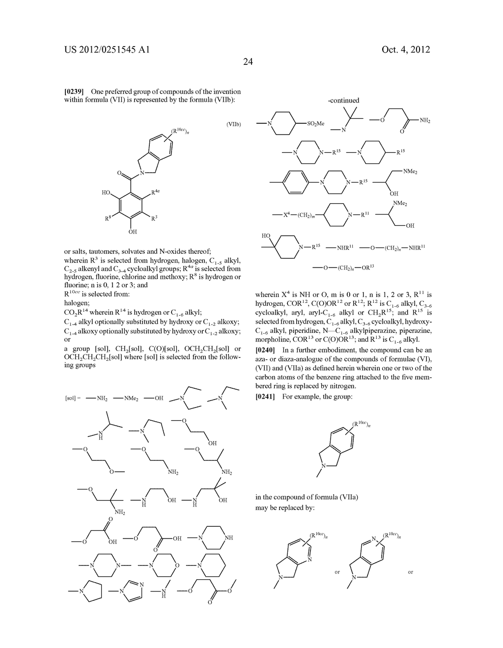 Therapeutic Combinations Of Hydroxybenzamide Derivatives As Inhibitors Of     HSP90 - diagram, schematic, and image 25