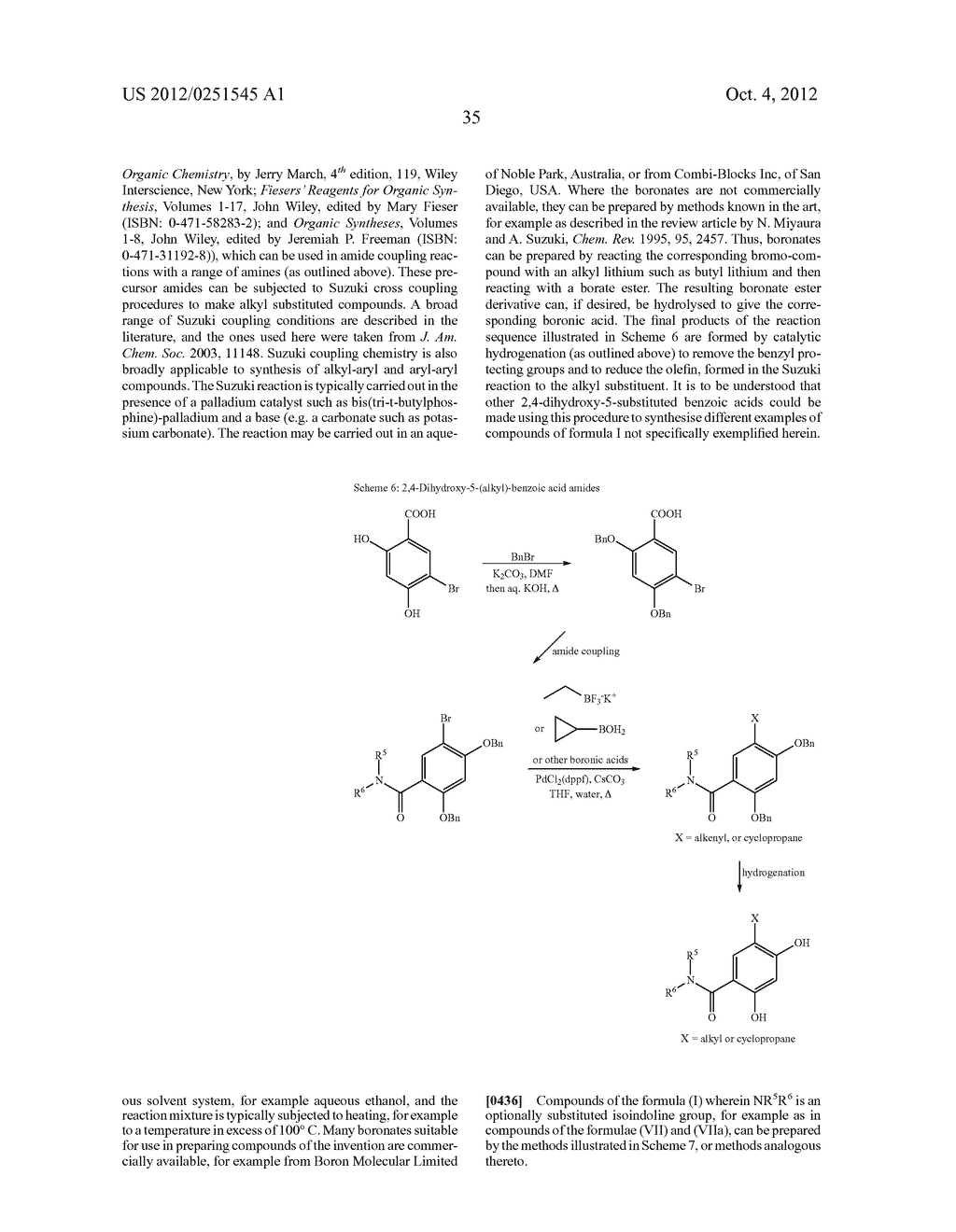 Therapeutic Combinations Of Hydroxybenzamide Derivatives As Inhibitors Of     HSP90 - diagram, schematic, and image 36