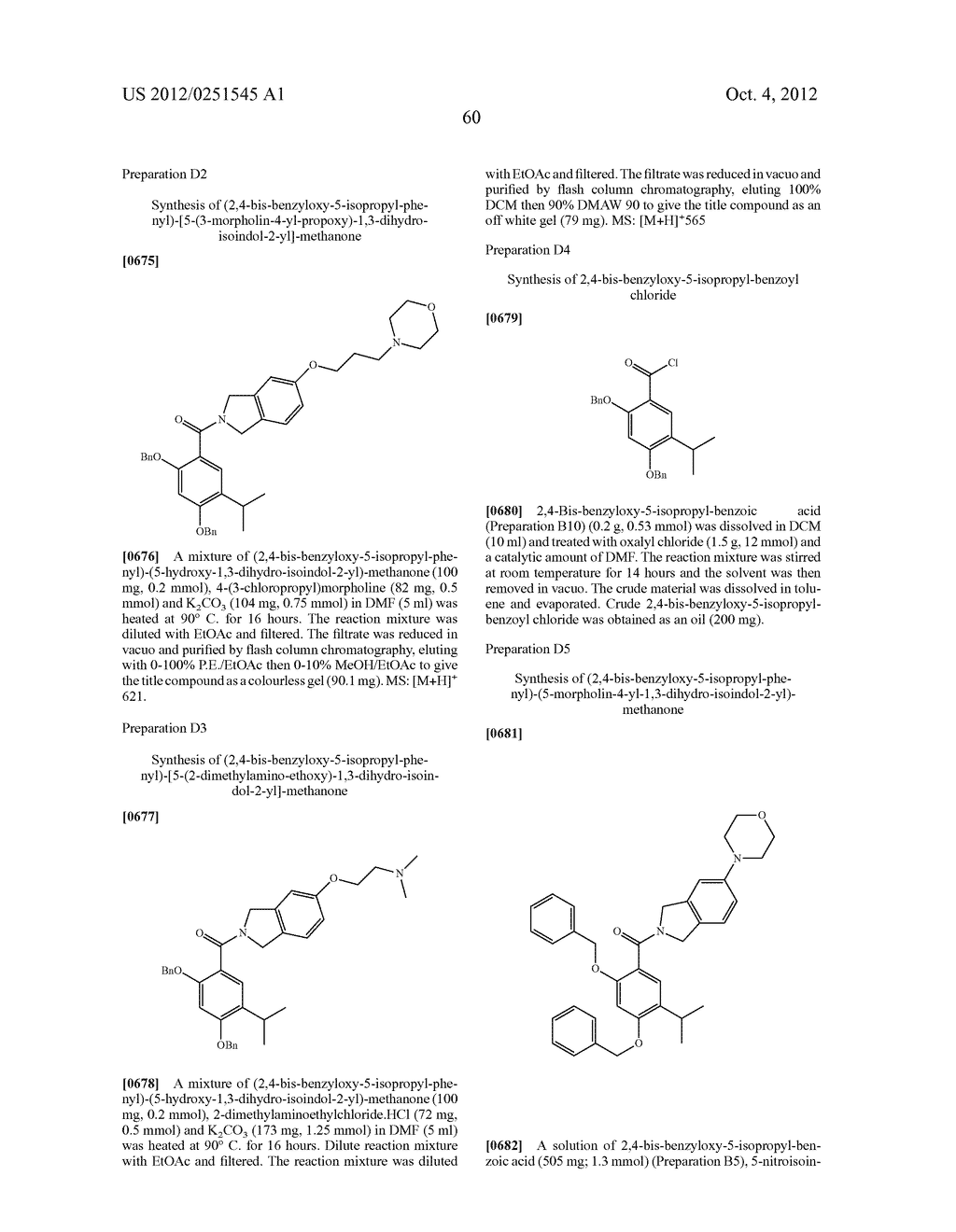 Therapeutic Combinations Of Hydroxybenzamide Derivatives As Inhibitors Of     HSP90 - diagram, schematic, and image 61