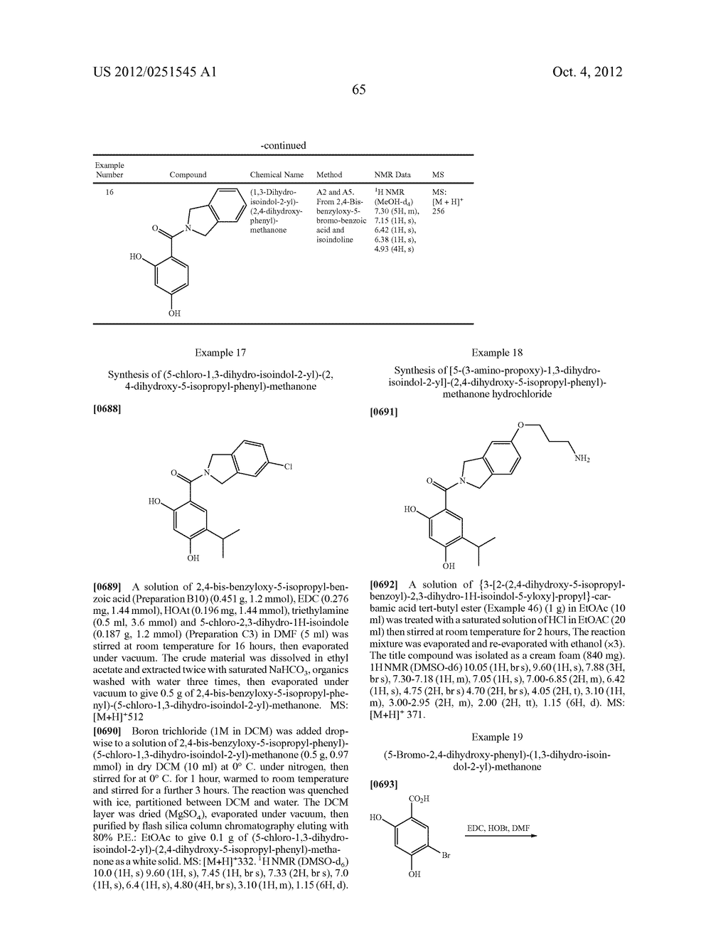 Therapeutic Combinations Of Hydroxybenzamide Derivatives As Inhibitors Of     HSP90 - diagram, schematic, and image 66