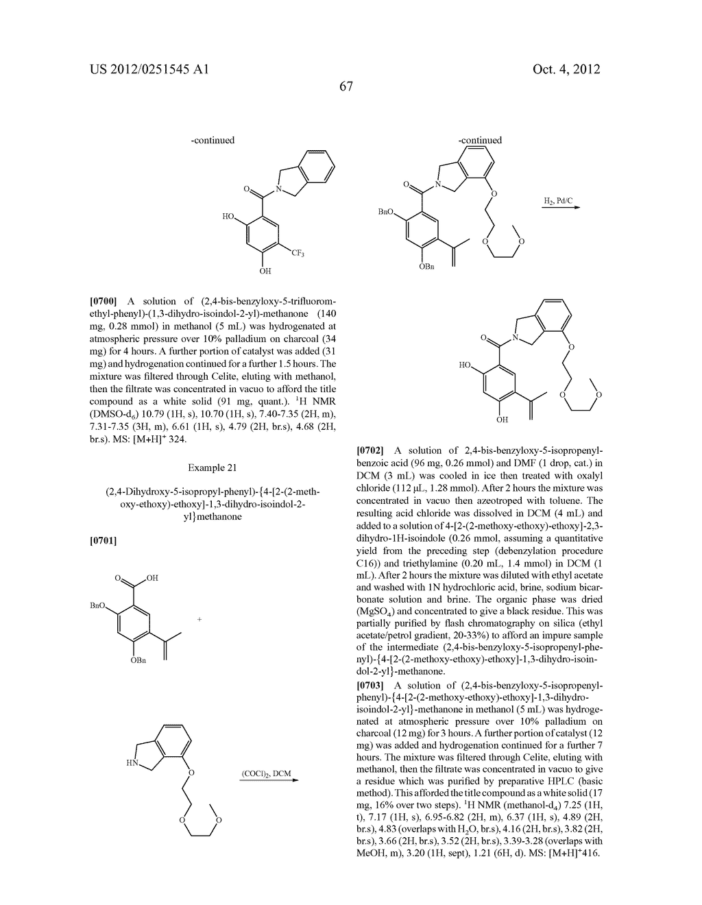 Therapeutic Combinations Of Hydroxybenzamide Derivatives As Inhibitors Of     HSP90 - diagram, schematic, and image 68