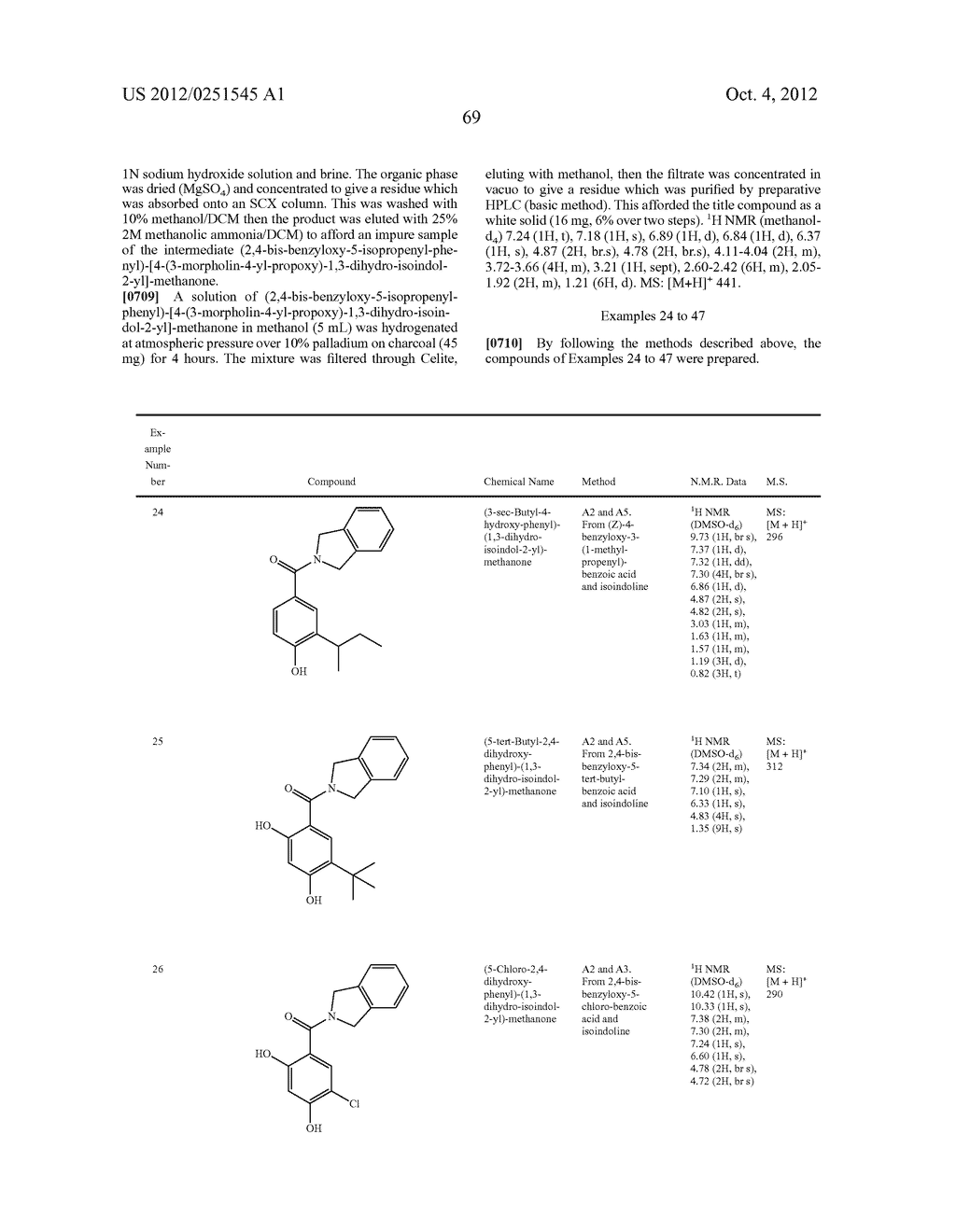 Therapeutic Combinations Of Hydroxybenzamide Derivatives As Inhibitors Of     HSP90 - diagram, schematic, and image 70