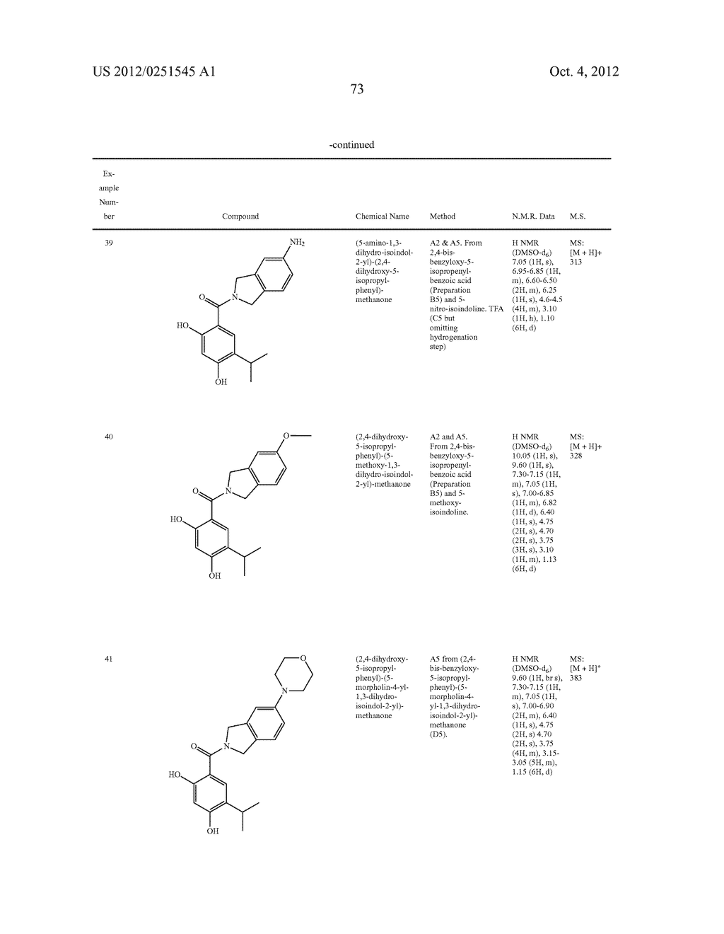 Therapeutic Combinations Of Hydroxybenzamide Derivatives As Inhibitors Of     HSP90 - diagram, schematic, and image 74