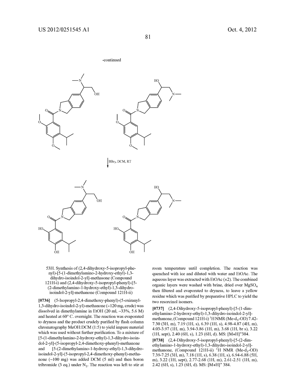 Therapeutic Combinations Of Hydroxybenzamide Derivatives As Inhibitors Of     HSP90 - diagram, schematic, and image 82