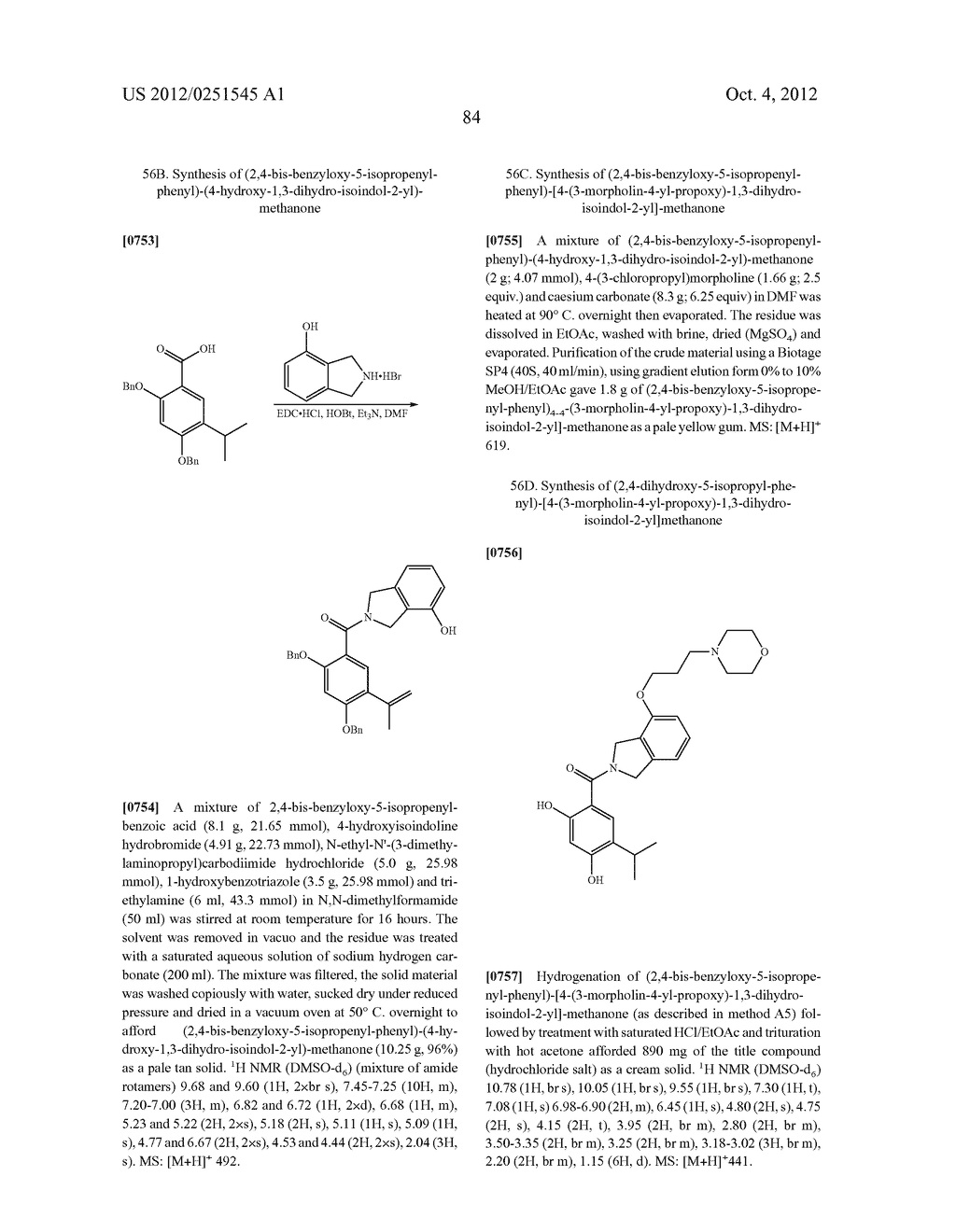 Therapeutic Combinations Of Hydroxybenzamide Derivatives As Inhibitors Of     HSP90 - diagram, schematic, and image 85