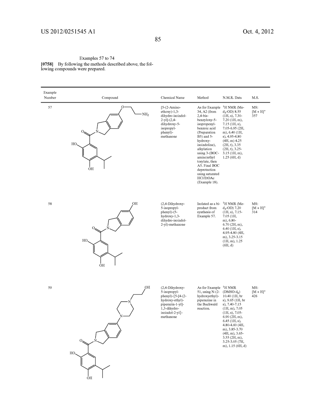 Therapeutic Combinations Of Hydroxybenzamide Derivatives As Inhibitors Of     HSP90 - diagram, schematic, and image 86
