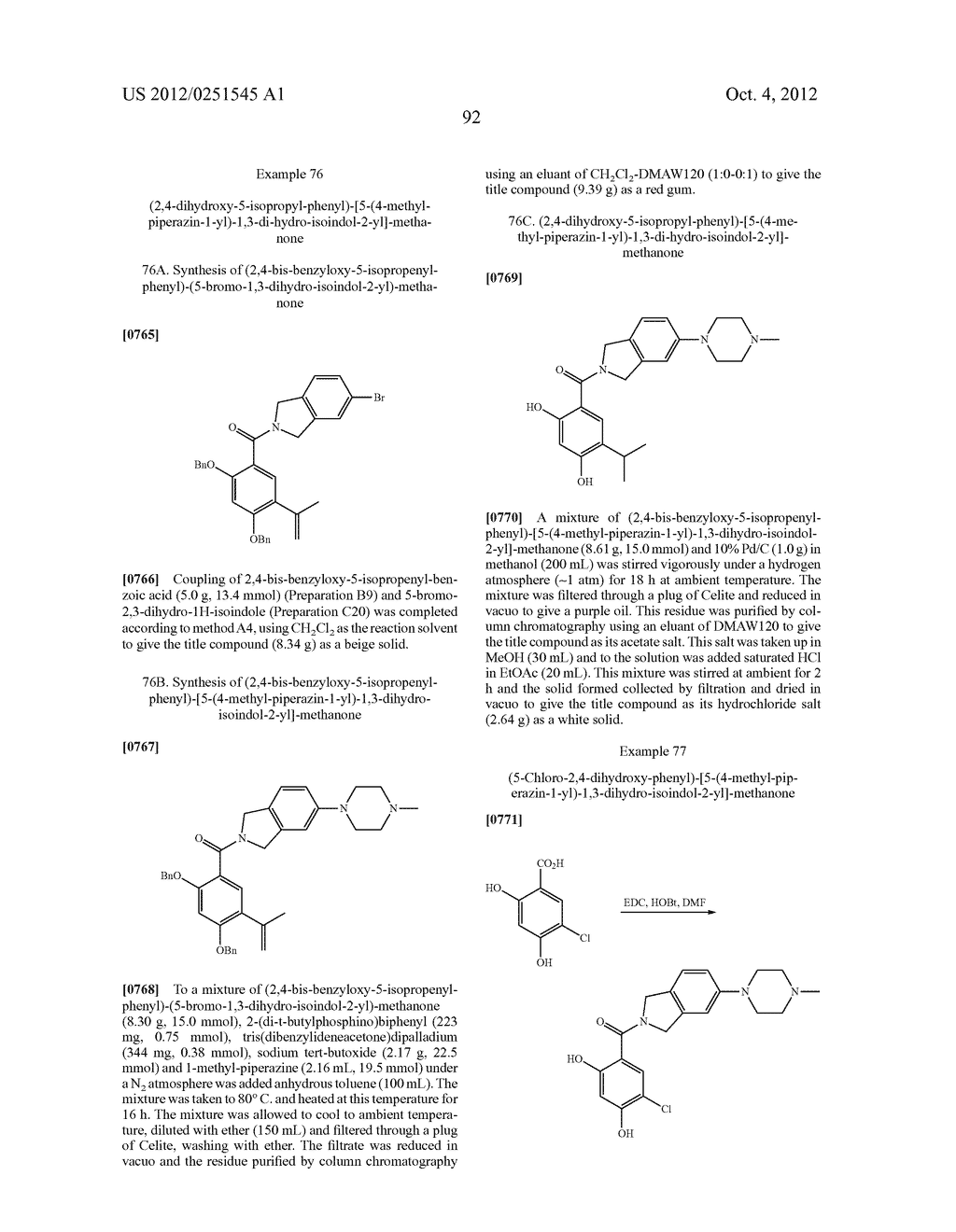 Therapeutic Combinations Of Hydroxybenzamide Derivatives As Inhibitors Of     HSP90 - diagram, schematic, and image 93