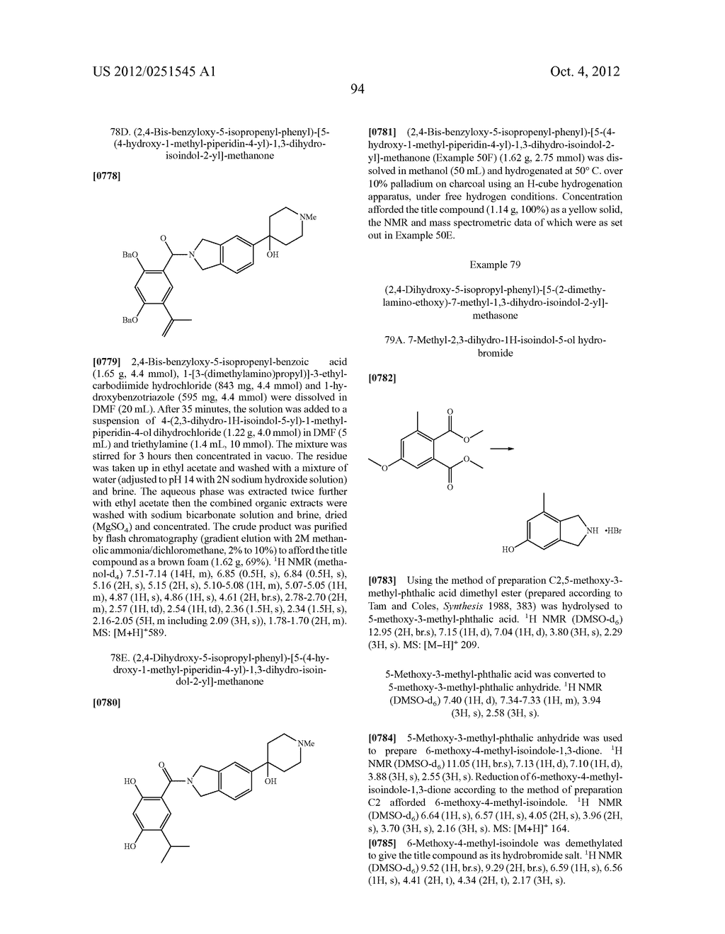 Therapeutic Combinations Of Hydroxybenzamide Derivatives As Inhibitors Of     HSP90 - diagram, schematic, and image 95