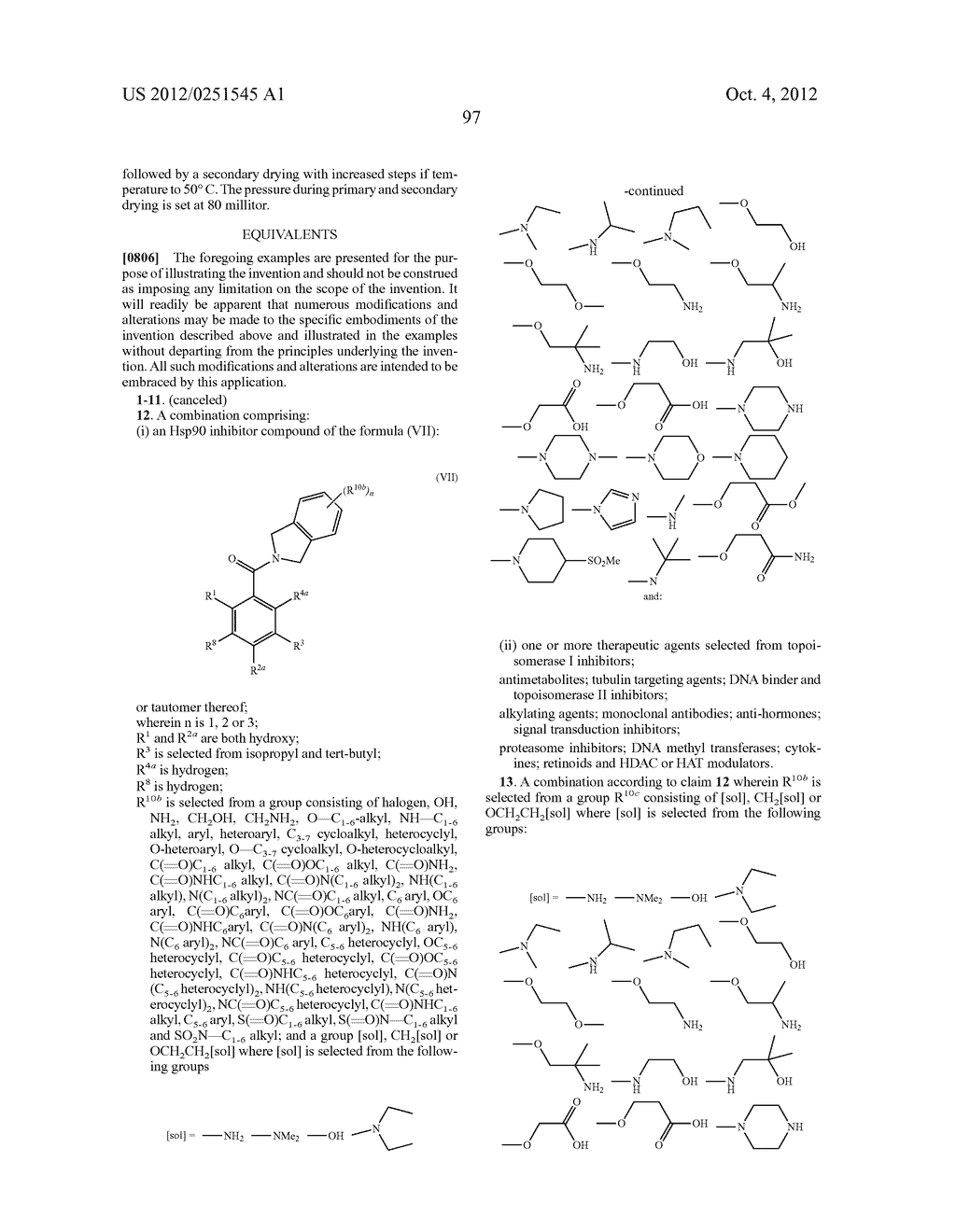 Therapeutic Combinations Of Hydroxybenzamide Derivatives As Inhibitors Of     HSP90 - diagram, schematic, and image 98