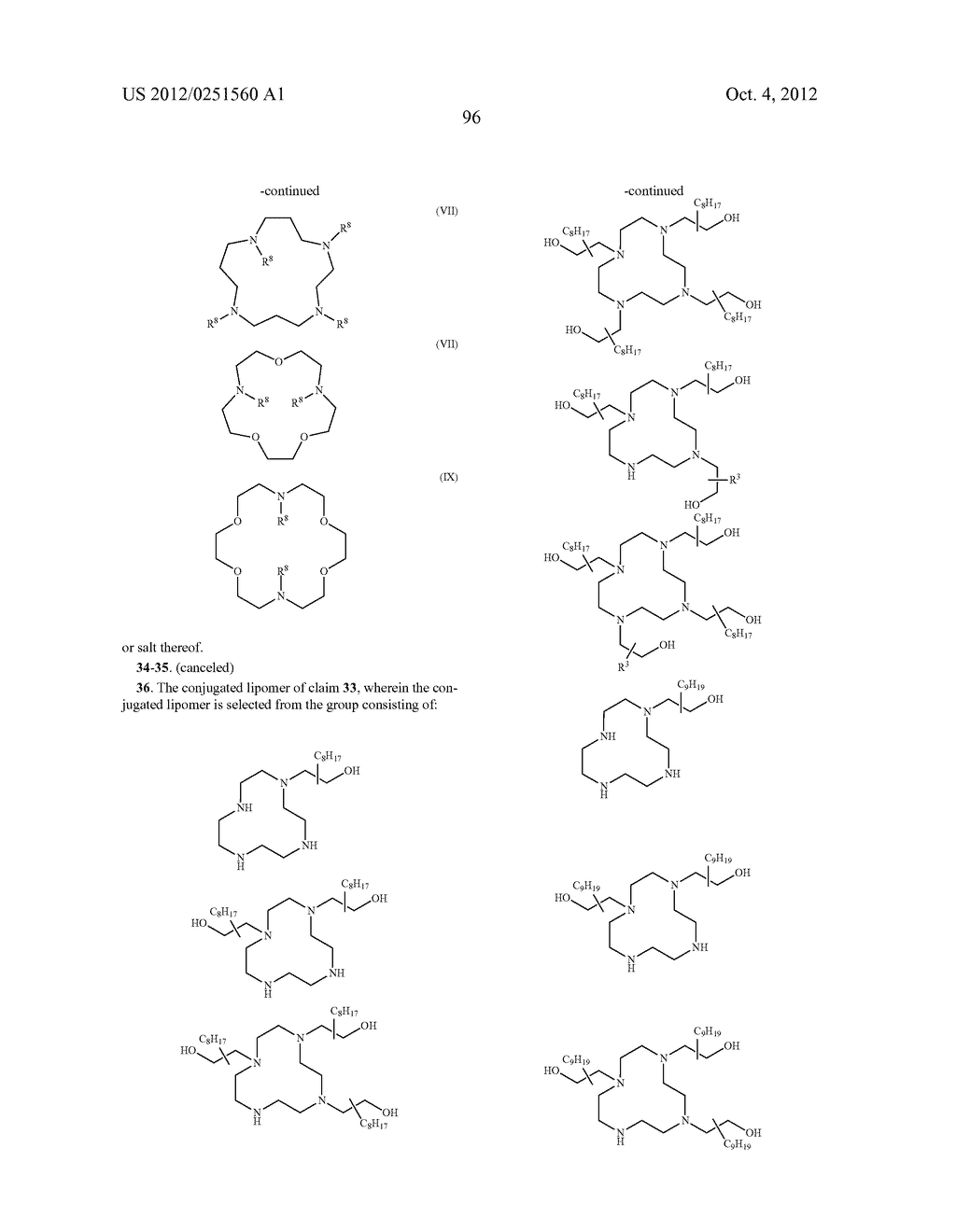 CONJUGATED LIPOMERS AND USES THEREOF - diagram, schematic, and image 132