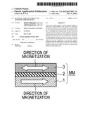 MAGNETIC STORAGE ELEMENT AND MAGNETIC STORAGE DEVICE diagram and image