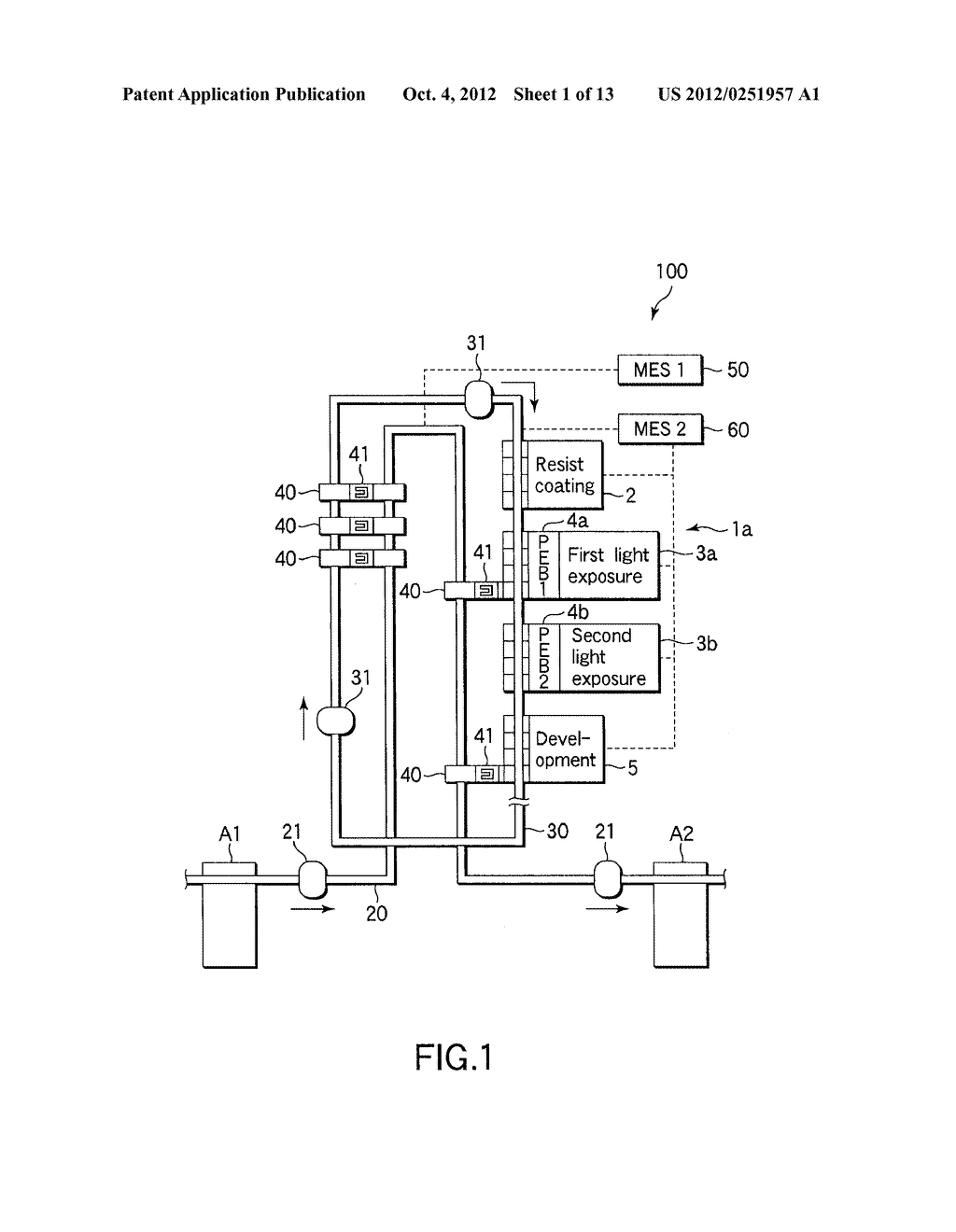 SUBSTRATE TRANSFER METHOD FOR PERFORMING PROCESSES INCLUDING     PHOTOLITHOGRAPHY SEQUENCE - diagram, schematic, and image 02