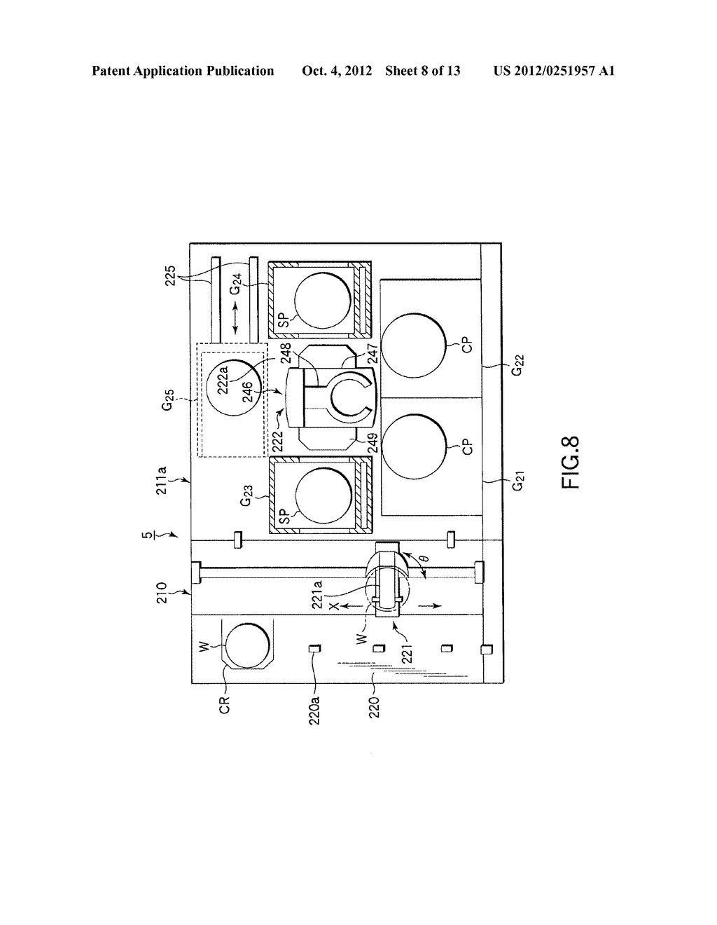 SUBSTRATE TRANSFER METHOD FOR PERFORMING PROCESSES INCLUDING     PHOTOLITHOGRAPHY SEQUENCE - diagram, schematic, and image 09