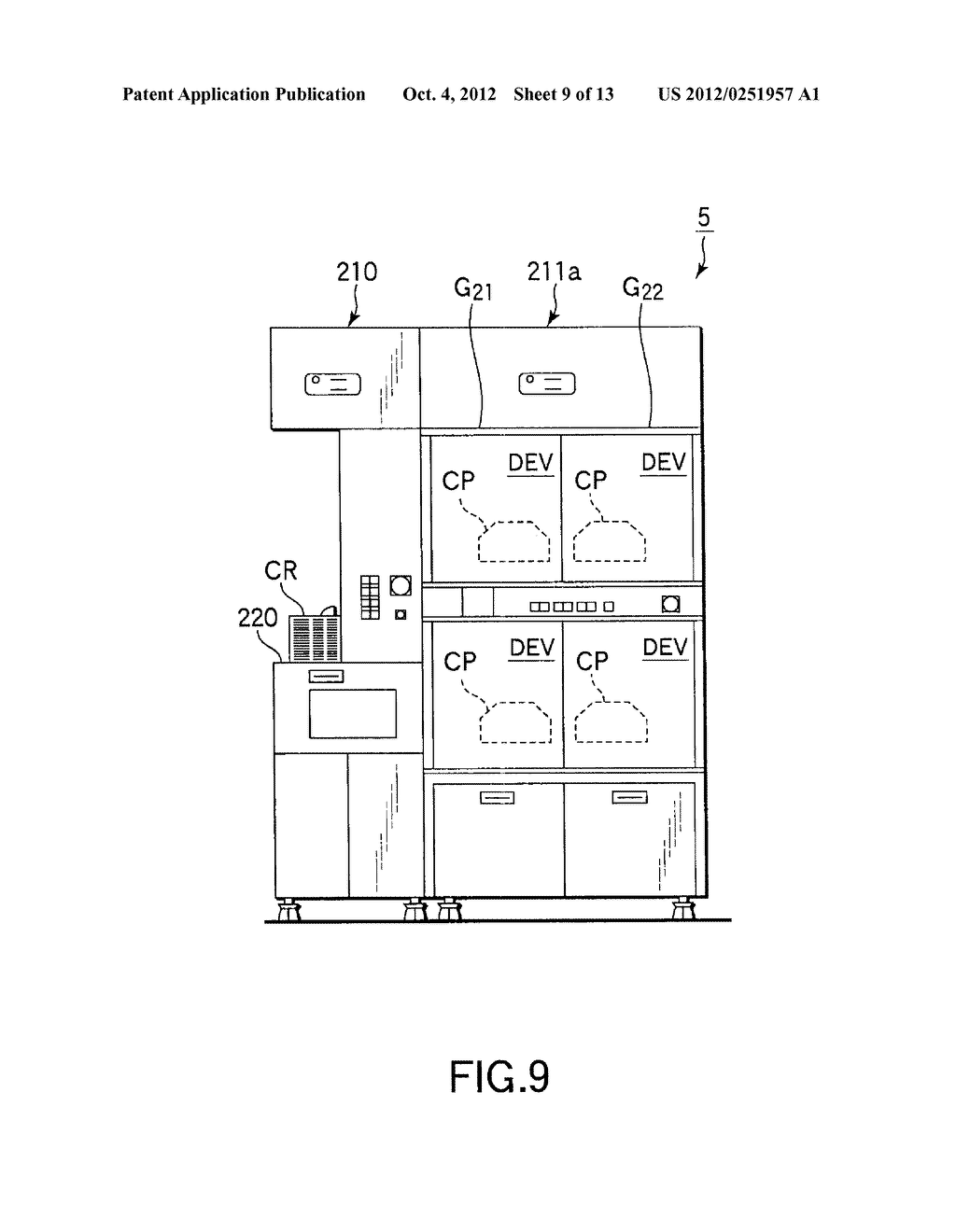 SUBSTRATE TRANSFER METHOD FOR PERFORMING PROCESSES INCLUDING     PHOTOLITHOGRAPHY SEQUENCE - diagram, schematic, and image 10