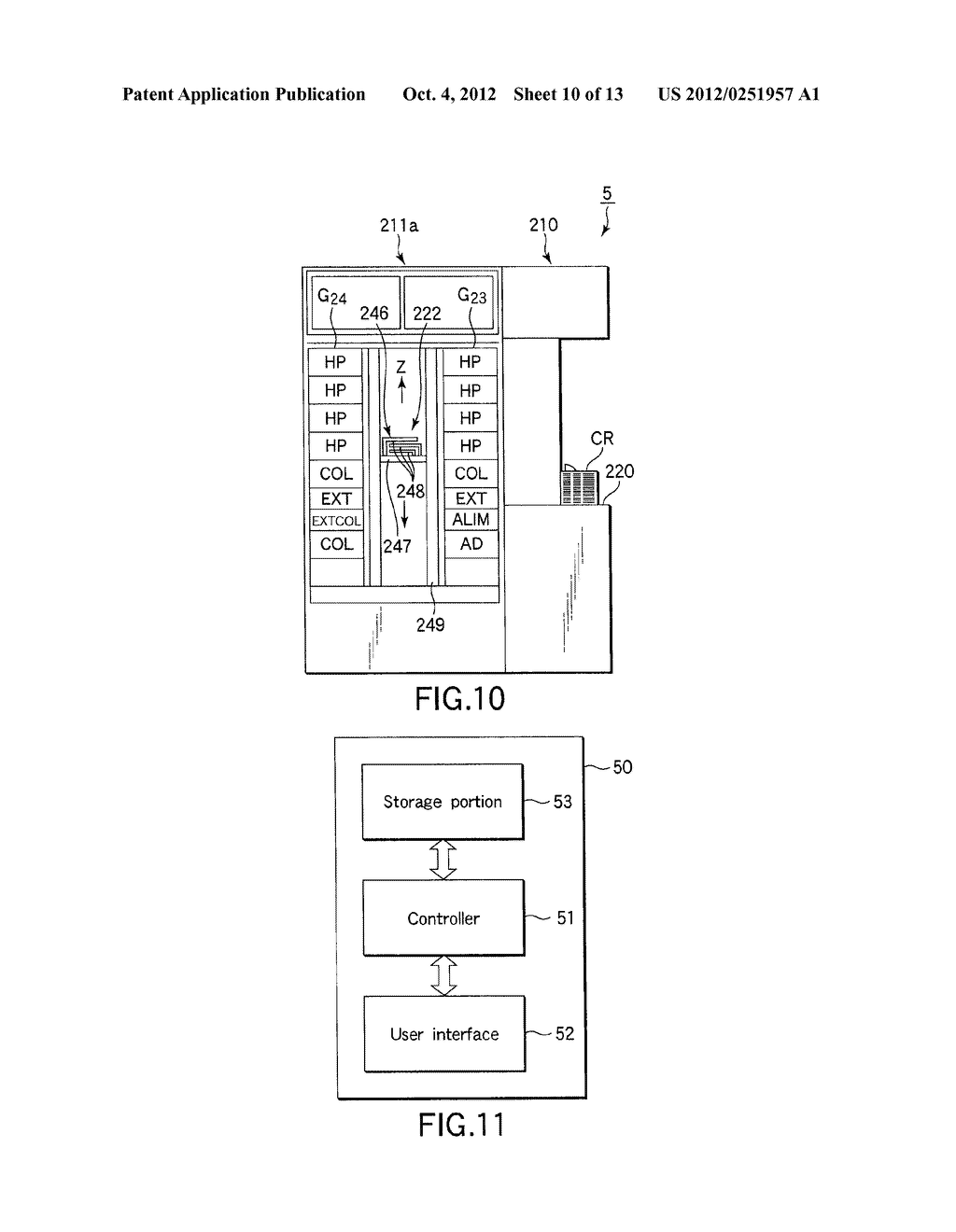 SUBSTRATE TRANSFER METHOD FOR PERFORMING PROCESSES INCLUDING     PHOTOLITHOGRAPHY SEQUENCE - diagram, schematic, and image 11
