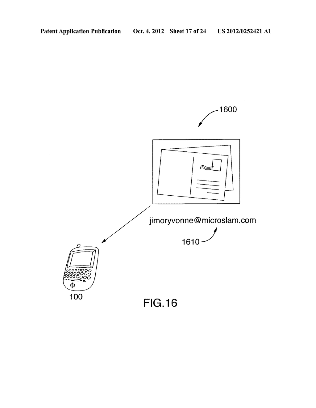 SYSTEM AND METHOD FOR IDENTIFYING A CONTACT ASSOCIATED WITH AN ELECTRONIC     COMMUNICATION - diagram, schematic, and image 18
