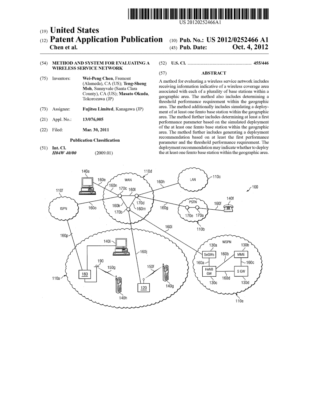 Method and System for Evaluating a Wireless Service Network - diagram, schematic, and image 01