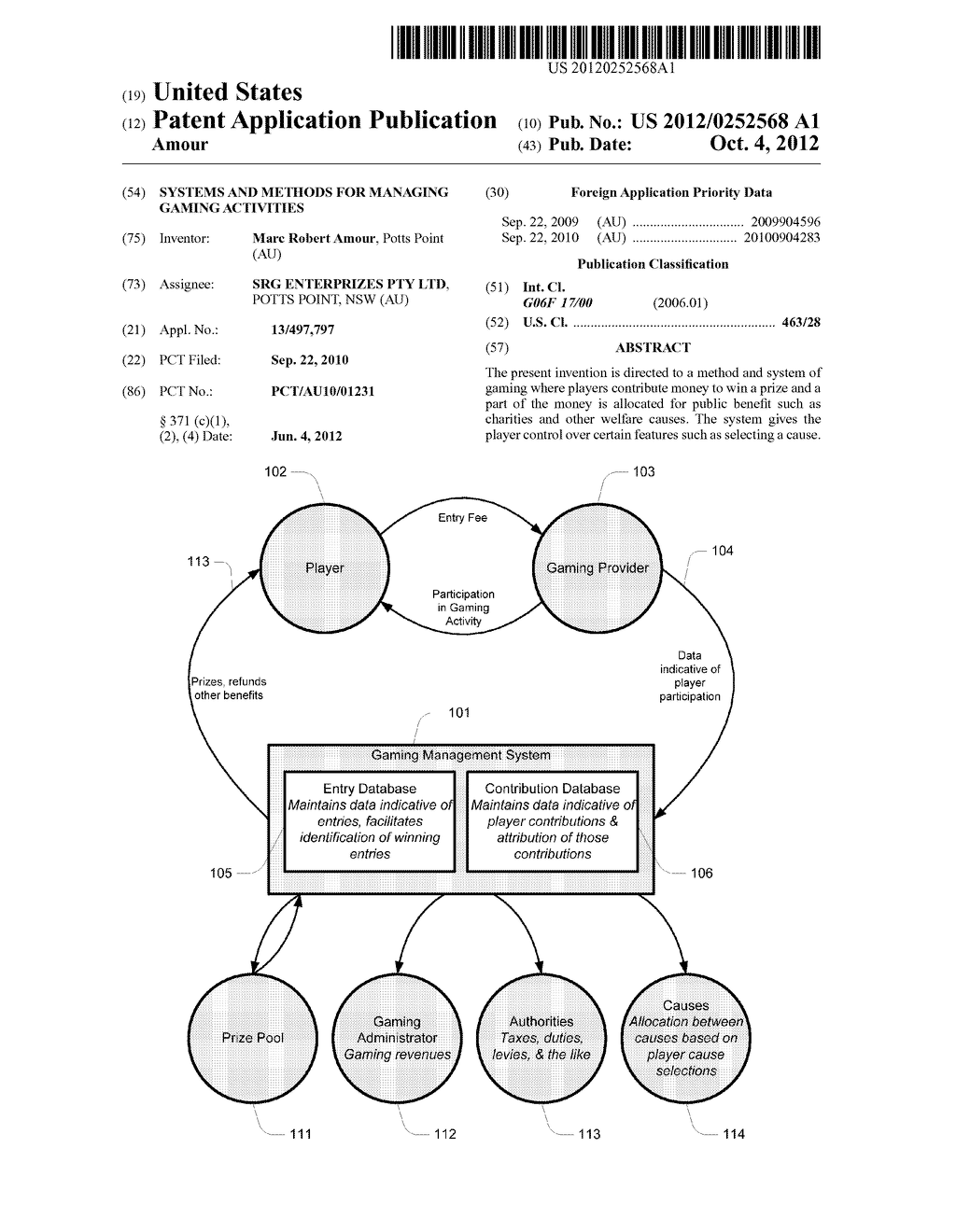 SYSTEMS AND METHODS FOR MANAGING GAMING ACTIVITIES - diagram, schematic, and image 01