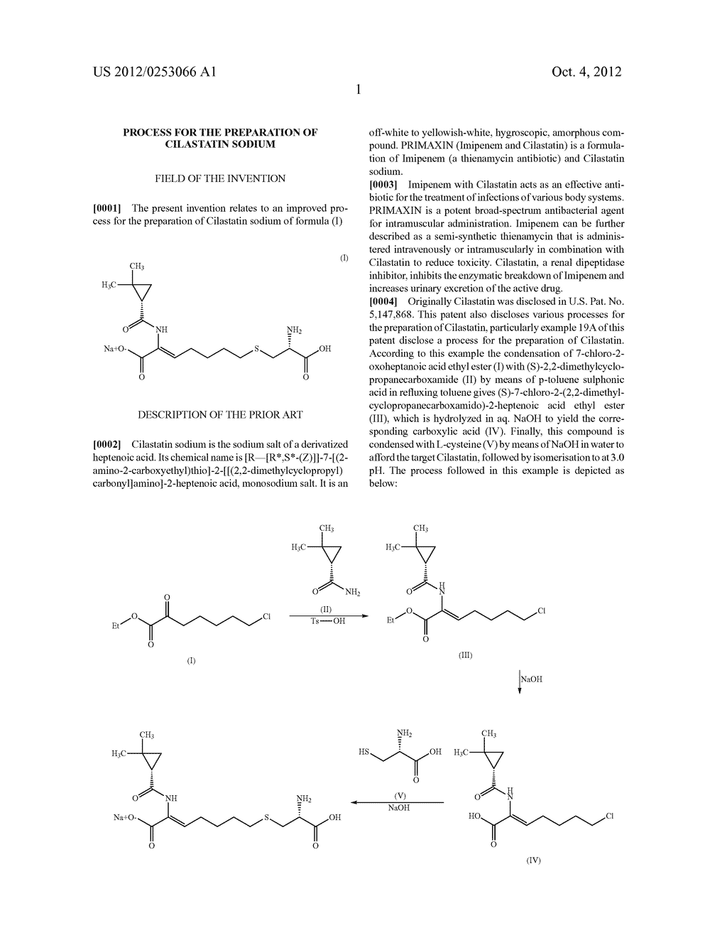 PROCESS FOR THE PREPARATION OF CILASTATIN SODIUM - diagram, schematic, and image 02