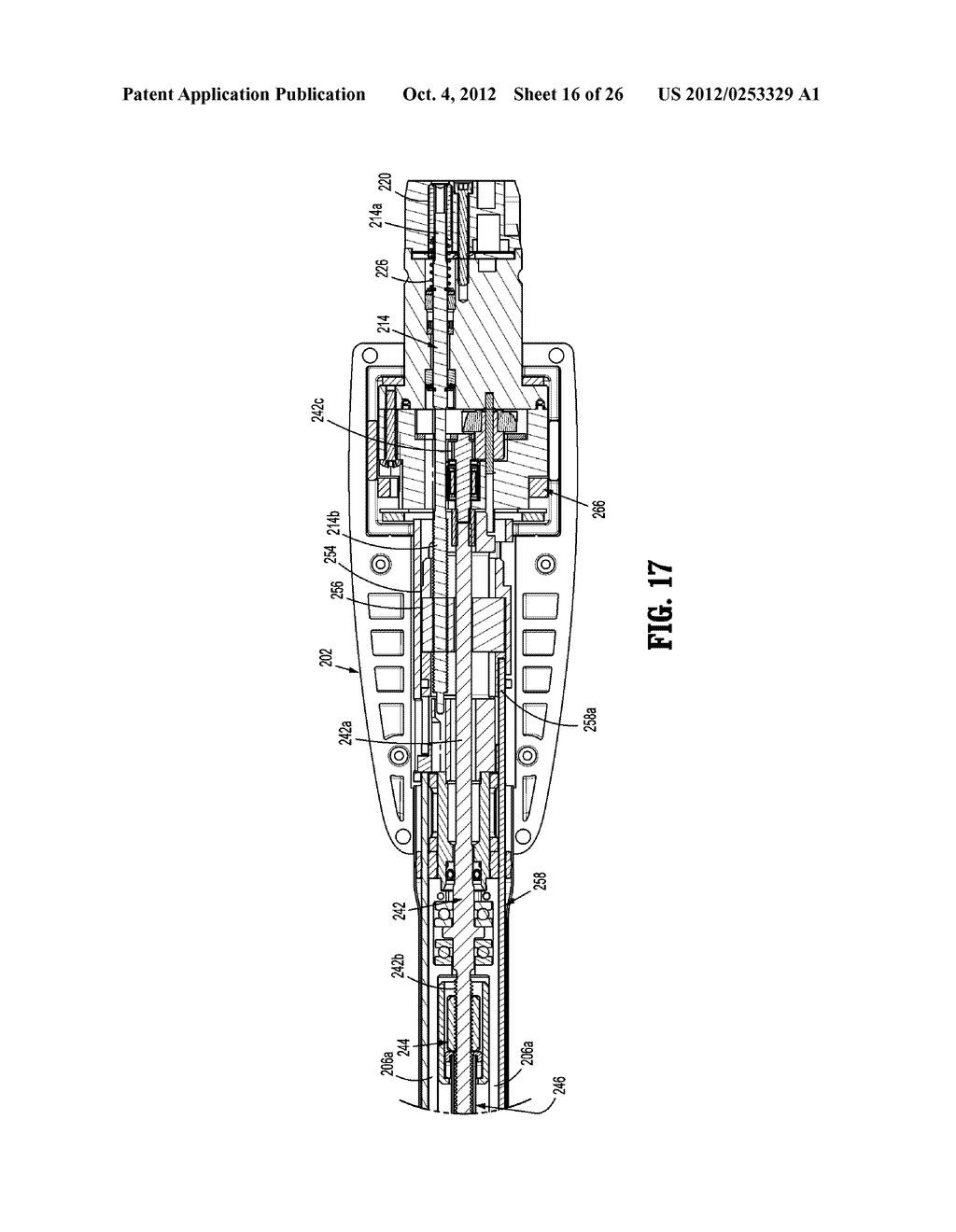 HAND HELD SURGICAL HANDLE ASSEMBLY, SURGICAL ADAPTERS FOR USE BETWEEN     SURGICAL HANDLE ASSEMBLY AND SURGICAL END EFFECTORS, AND METHODS OF USE - diagram, schematic, and image 17