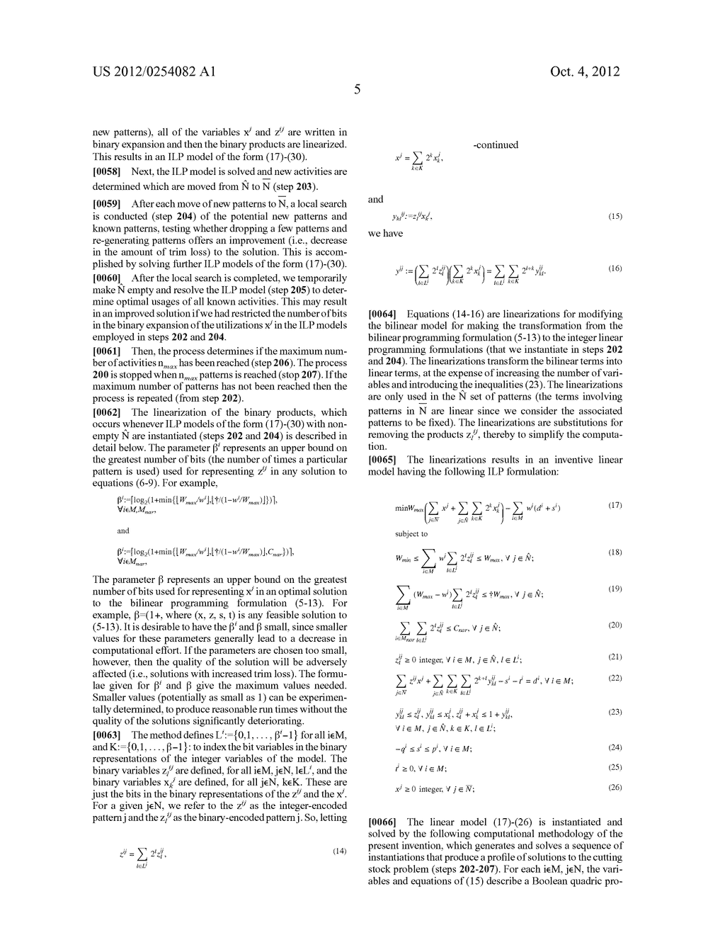 METHOD AND APPARATUS FOR GENERATING PROFILE OF SOLUTIONS TRADING OFF     NUMBER OF ACTIVITIES UTILIZED AND OBJECTIVE VALUE FOR BILINEAR INTEGER     OPTIMIZATION MODELS - diagram, schematic, and image 13