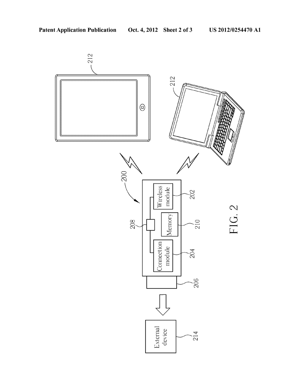 CONNECTOR APPLIED TO A PORTABLE DEVICE AND METHOD OF CONNECTING A PORTABLE     DEVICE WITH AN EXTERNAL DEVICE - diagram, schematic, and image 03