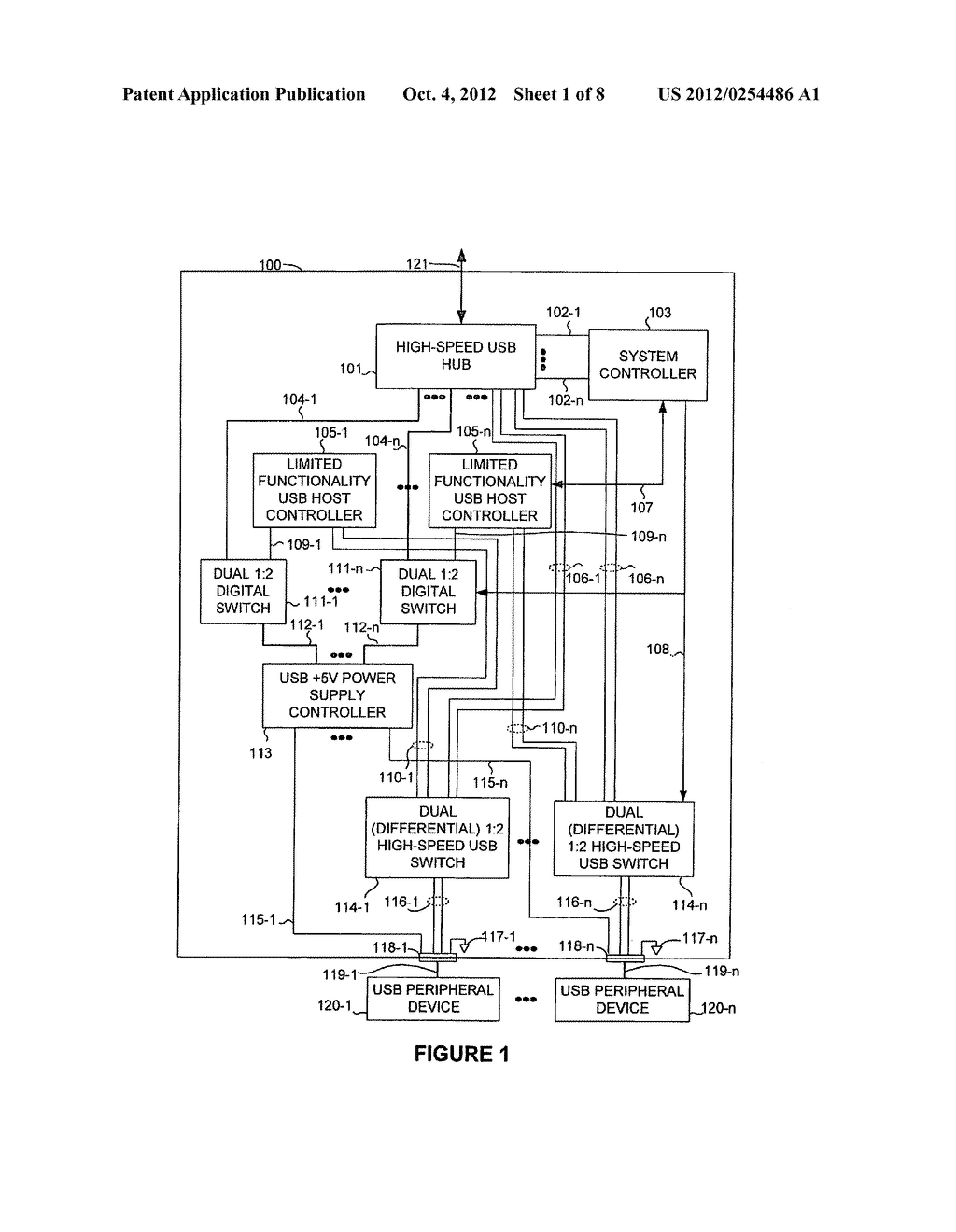 USB PERIPHERAL DEVICE COMPRISING LIMITED FUNCTION USB HOST CONTROLLER - diagram, schematic, and image 02