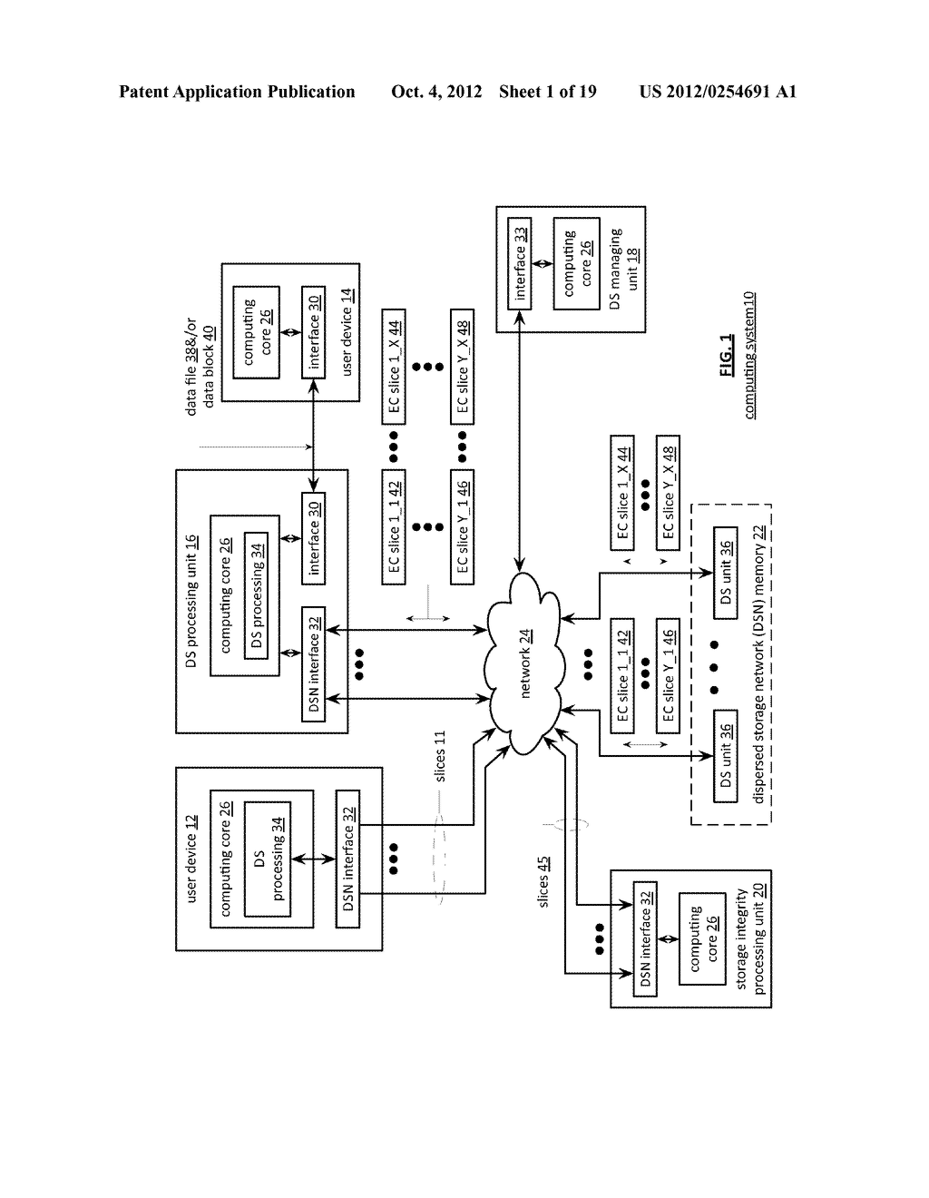 ADJUSTING A DISPERSAL PARAMETER OF DISPERSEDLY STORED DATA - diagram, schematic, and image 02