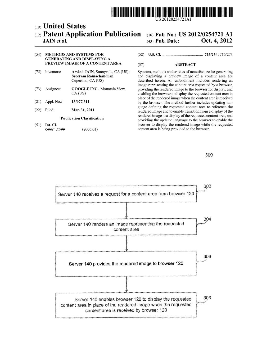METHODS AND SYSTEMS FOR GENERATING AND DISPLAYING A PREVIEW IMAGE OF A     CONTENT AREA - diagram, schematic, and image 01