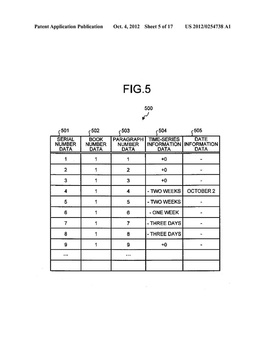 TIME-SERIES INFORMATION GENERATING APPARATUS AND TIME-SERIES INFORMATION     GENERATING METHOD - diagram, schematic, and image 06
