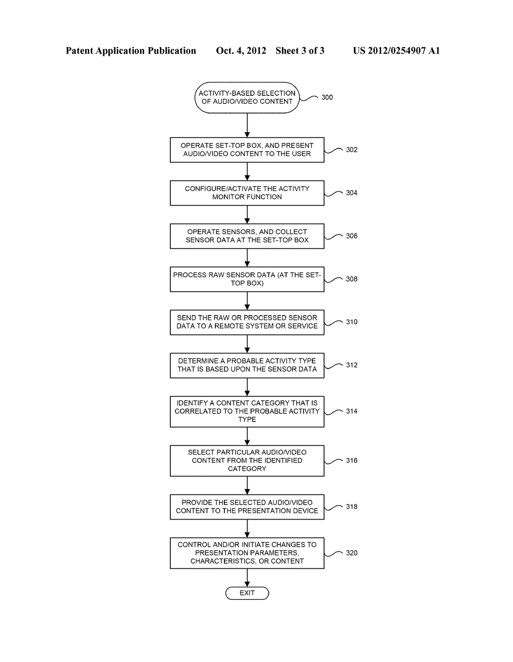 SYSTEM AND METHOD FOR SELECTING AUDIO/VIDEO CONTENT FOR PRESENTATION TO A     USER IN RESPONSE TO MONITORED USER ACTIVITY - diagram, schematic, and image 04