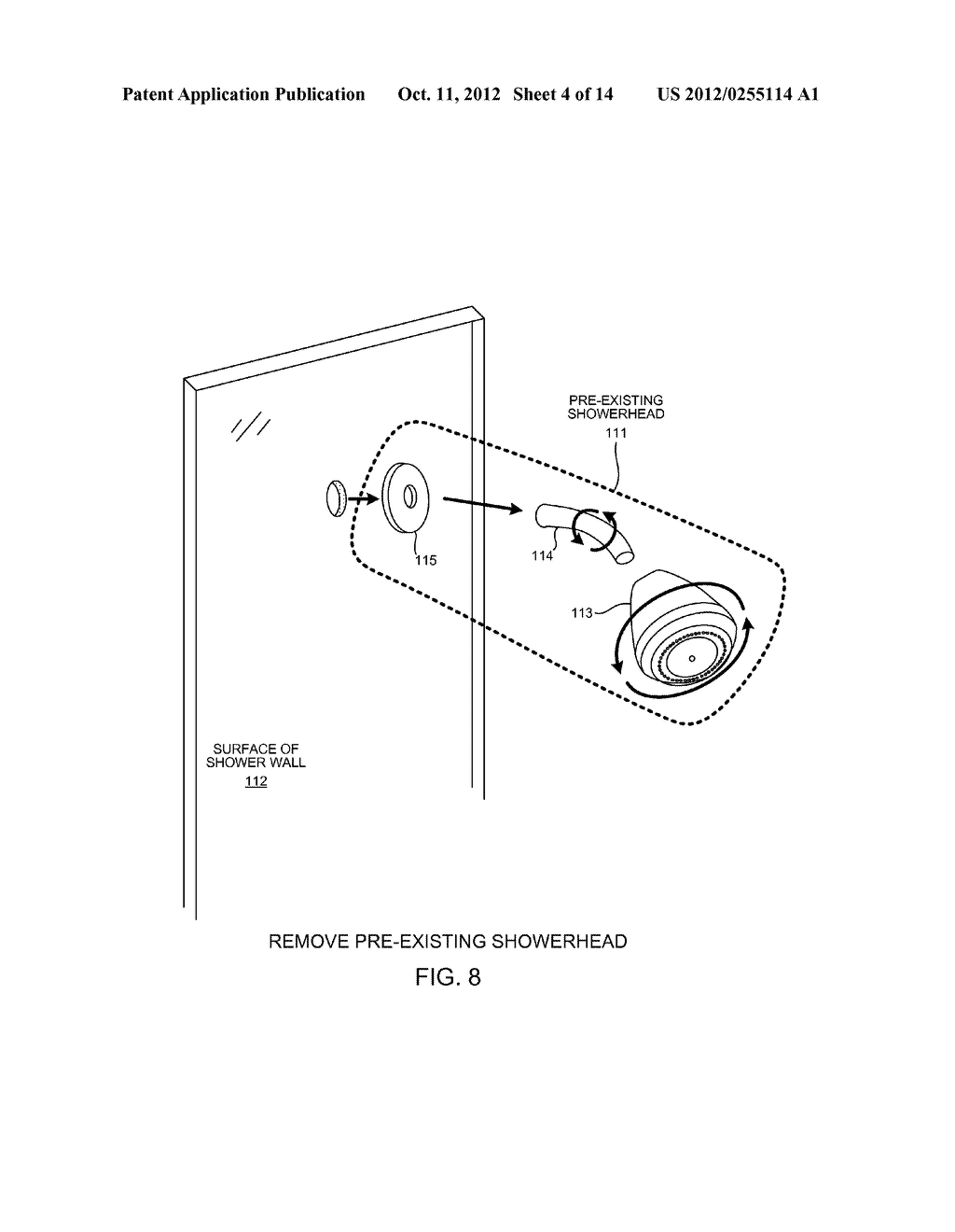 PRE-PLUMBED SHOWER PANEL WITH CLUSTERED JETS - diagram, schematic, and image 05