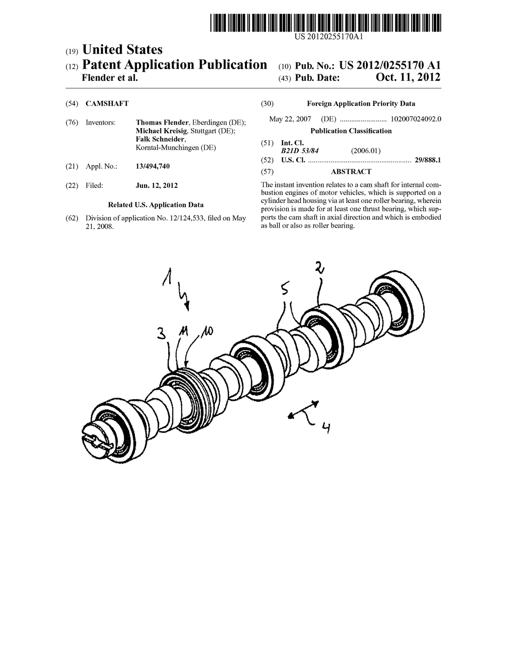 CAMSHAFT - diagram, schematic, and image 01