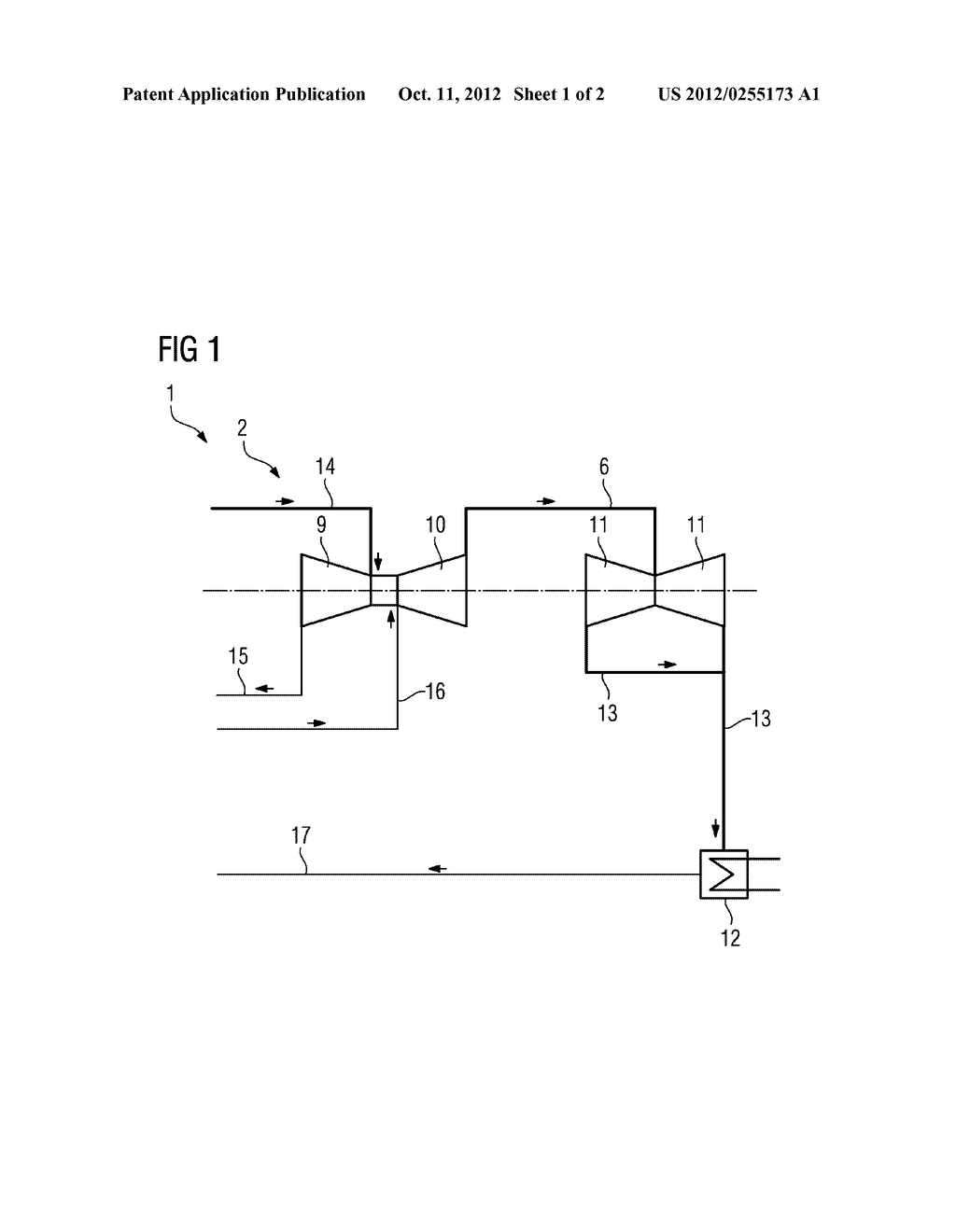 METHOD FOR RETROFITTING A FOSSIL-FUELED POWER STATION WITH A CARBON     DIOXIDE SEPARATION DEVICE - diagram, schematic, and image 02