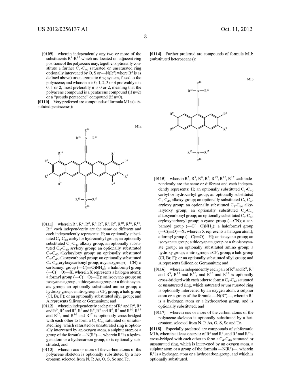 COMPOSITIONS COMPRISING ORGANIC SEMICONDUCTING COMPOUNDS - diagram, schematic, and image 19
