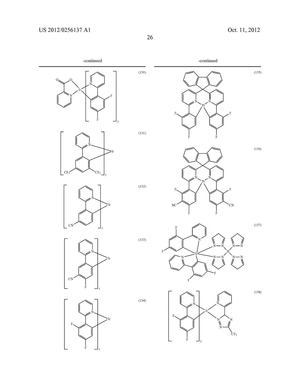 COMPOSITIONS COMPRISING ORGANIC SEMICONDUCTING COMPOUNDS - diagram, schematic, and image 37