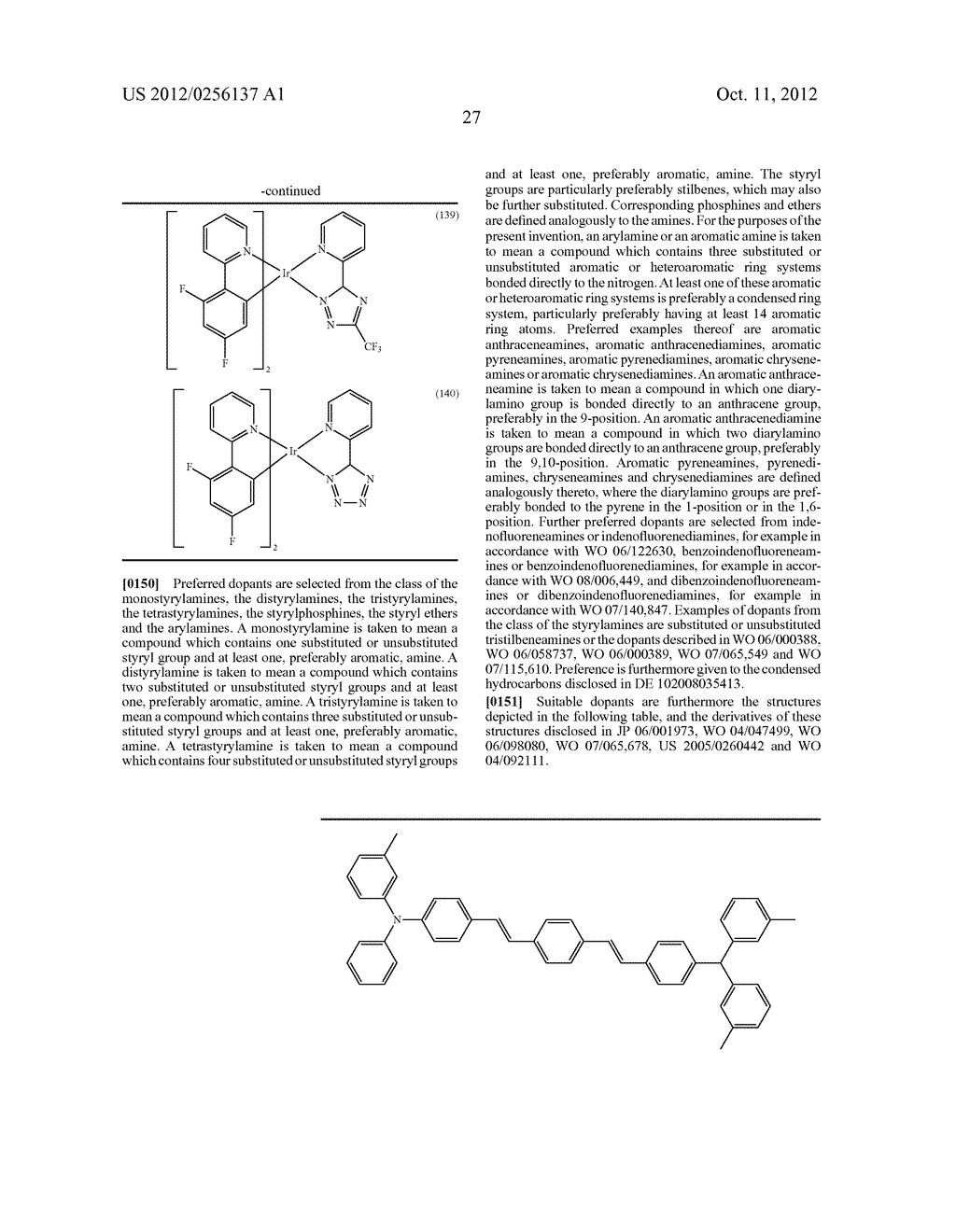 COMPOSITIONS COMPRISING ORGANIC SEMICONDUCTING COMPOUNDS - diagram, schematic, and image 38