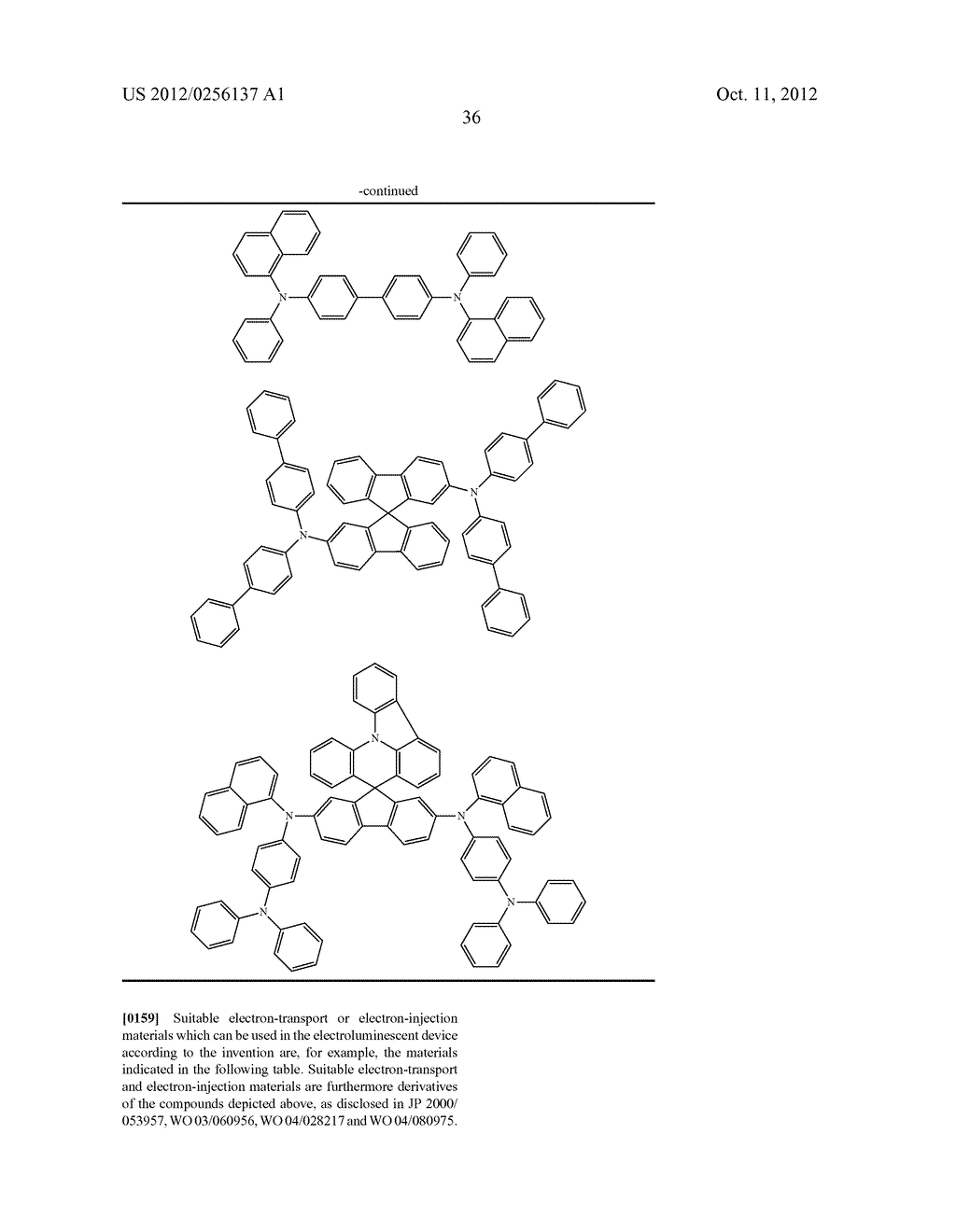 COMPOSITIONS COMPRISING ORGANIC SEMICONDUCTING COMPOUNDS - diagram, schematic, and image 47