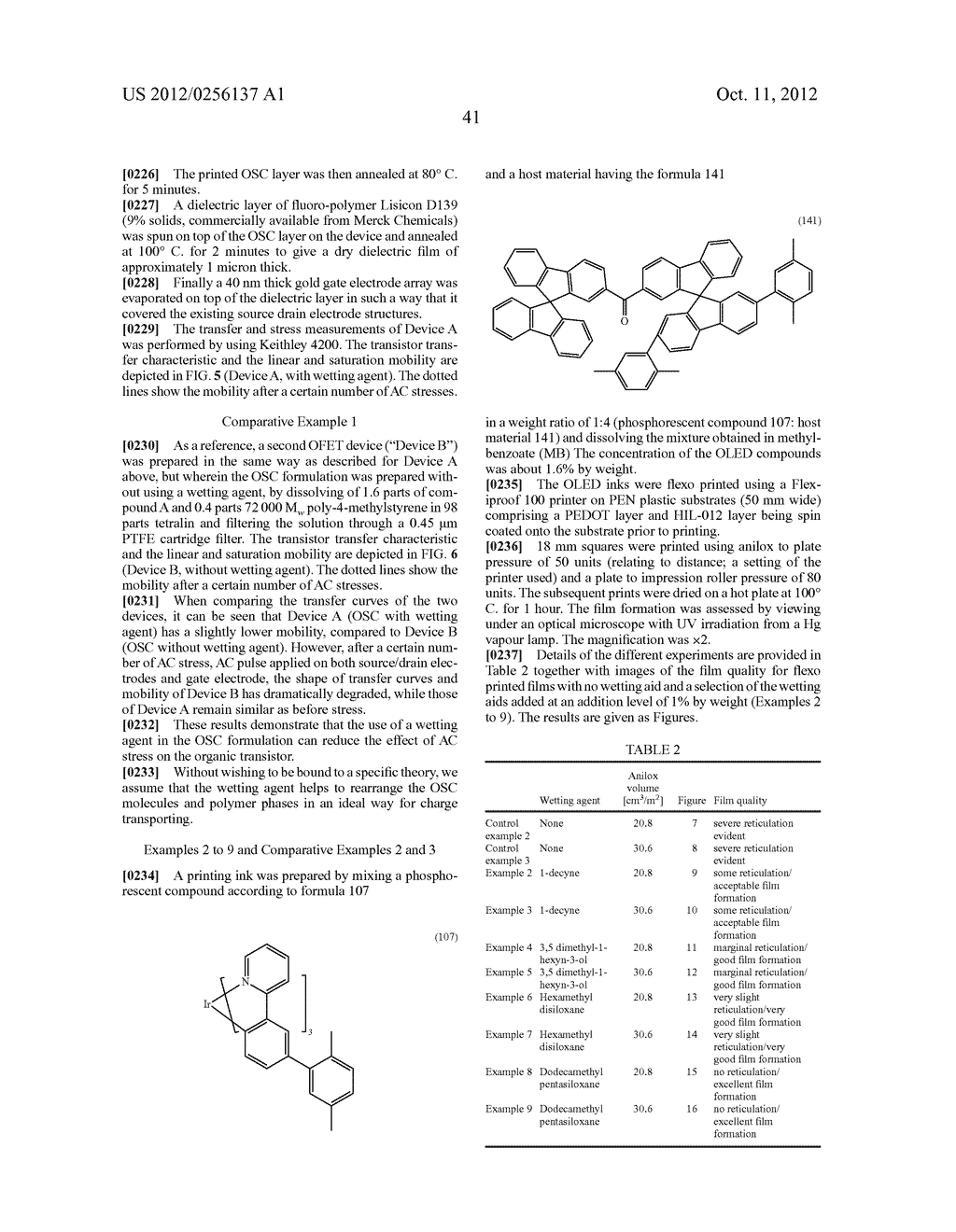 COMPOSITIONS COMPRISING ORGANIC SEMICONDUCTING COMPOUNDS - diagram, schematic, and image 52