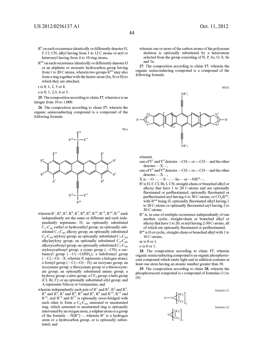 COMPOSITIONS COMPRISING ORGANIC SEMICONDUCTING COMPOUNDS - diagram, schematic, and image 55