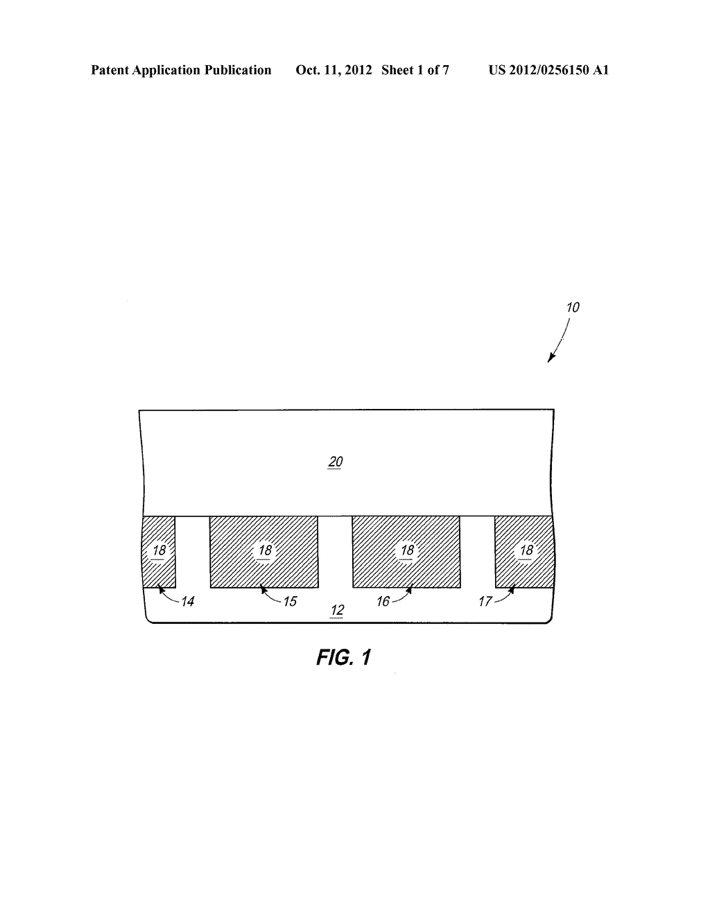 Integrated Circuitry, Methods of Forming Memory Cells, and Methods of     Patterning Platinum-Containing Material - diagram, schematic, and image 02