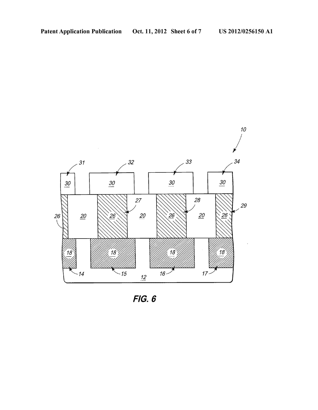 Integrated Circuitry, Methods of Forming Memory Cells, and Methods of     Patterning Platinum-Containing Material - diagram, schematic, and image 07