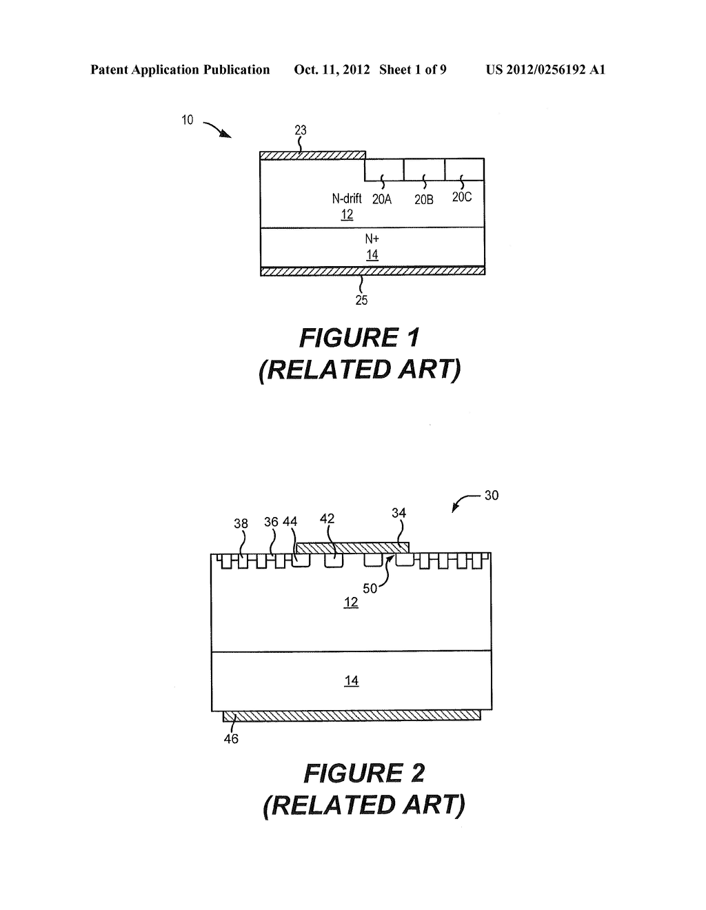 RECESSED TERMINATION STRUCTURES AND METHODS OF FABRICATING ELECTRONIC     DEVICES INCLUDING RECESSED TERMINATION STRUCTURES - diagram, schematic, and image 02