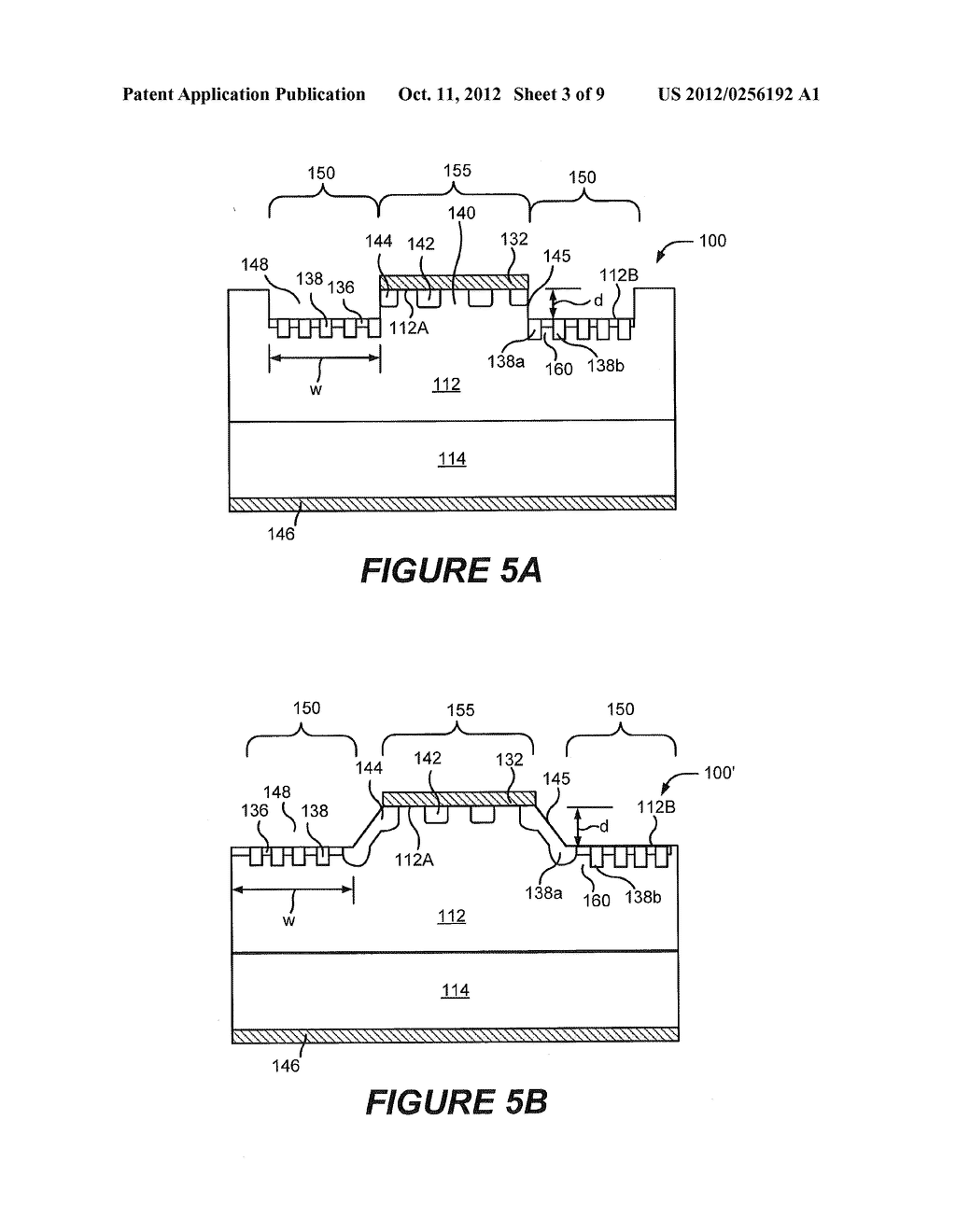 RECESSED TERMINATION STRUCTURES AND METHODS OF FABRICATING ELECTRONIC     DEVICES INCLUDING RECESSED TERMINATION STRUCTURES - diagram, schematic, and image 04