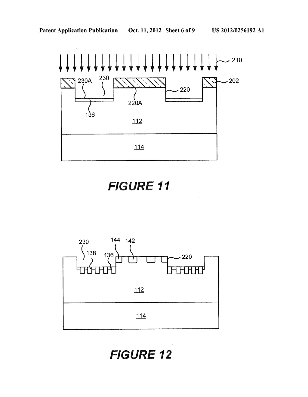 RECESSED TERMINATION STRUCTURES AND METHODS OF FABRICATING ELECTRONIC     DEVICES INCLUDING RECESSED TERMINATION STRUCTURES - diagram, schematic, and image 07