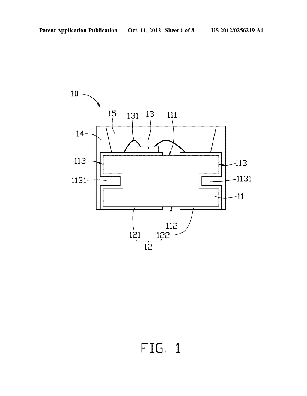 LIGHT EMITTING DIODE PACKAGE AND METHOD OF MANUFACTURING THE SAME - diagram, schematic, and image 02