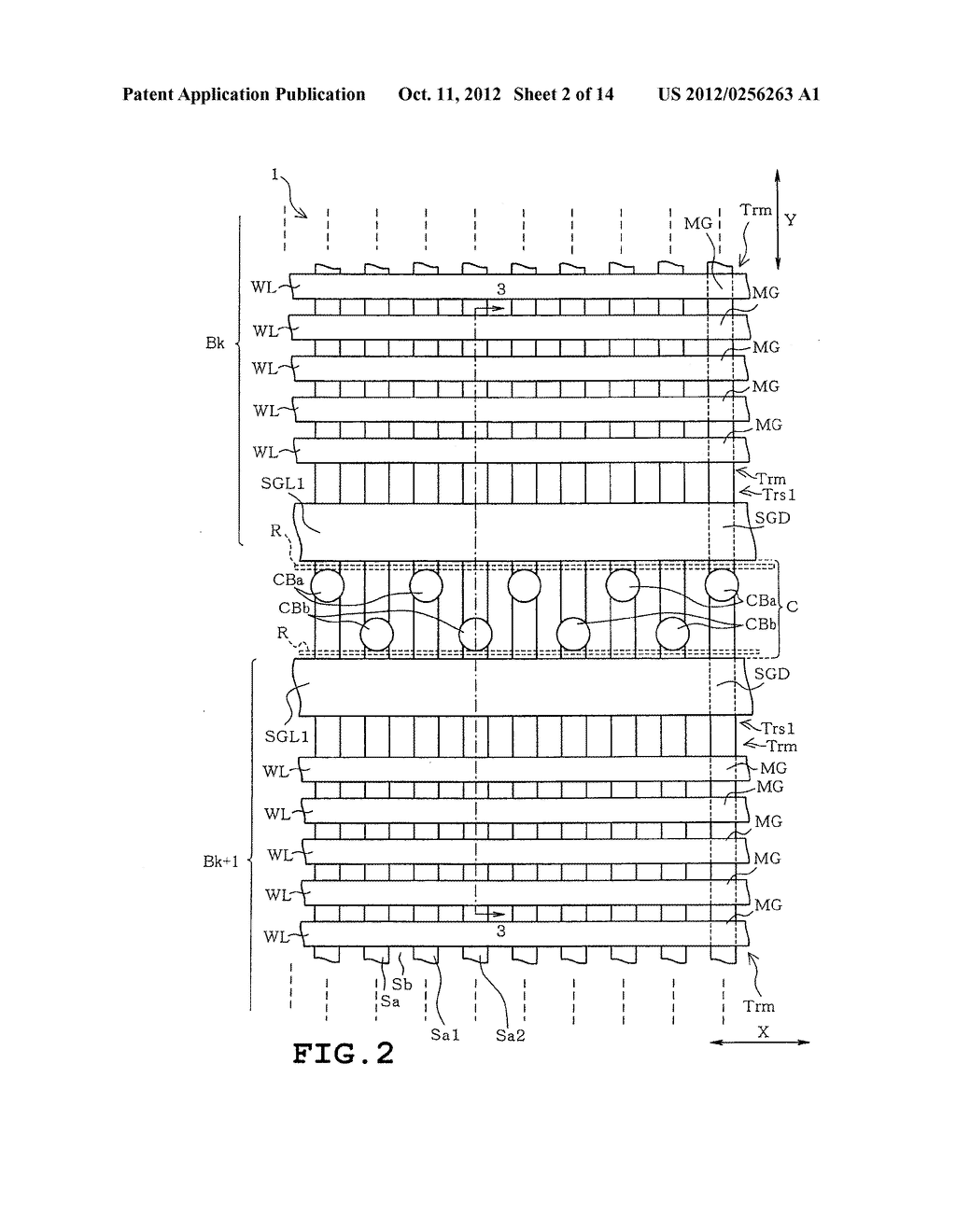 SEMICONDUCTOR STORAGE DEVICE AND METHOD OF MANUFACTURING THE SAME - diagram, schematic, and image 03