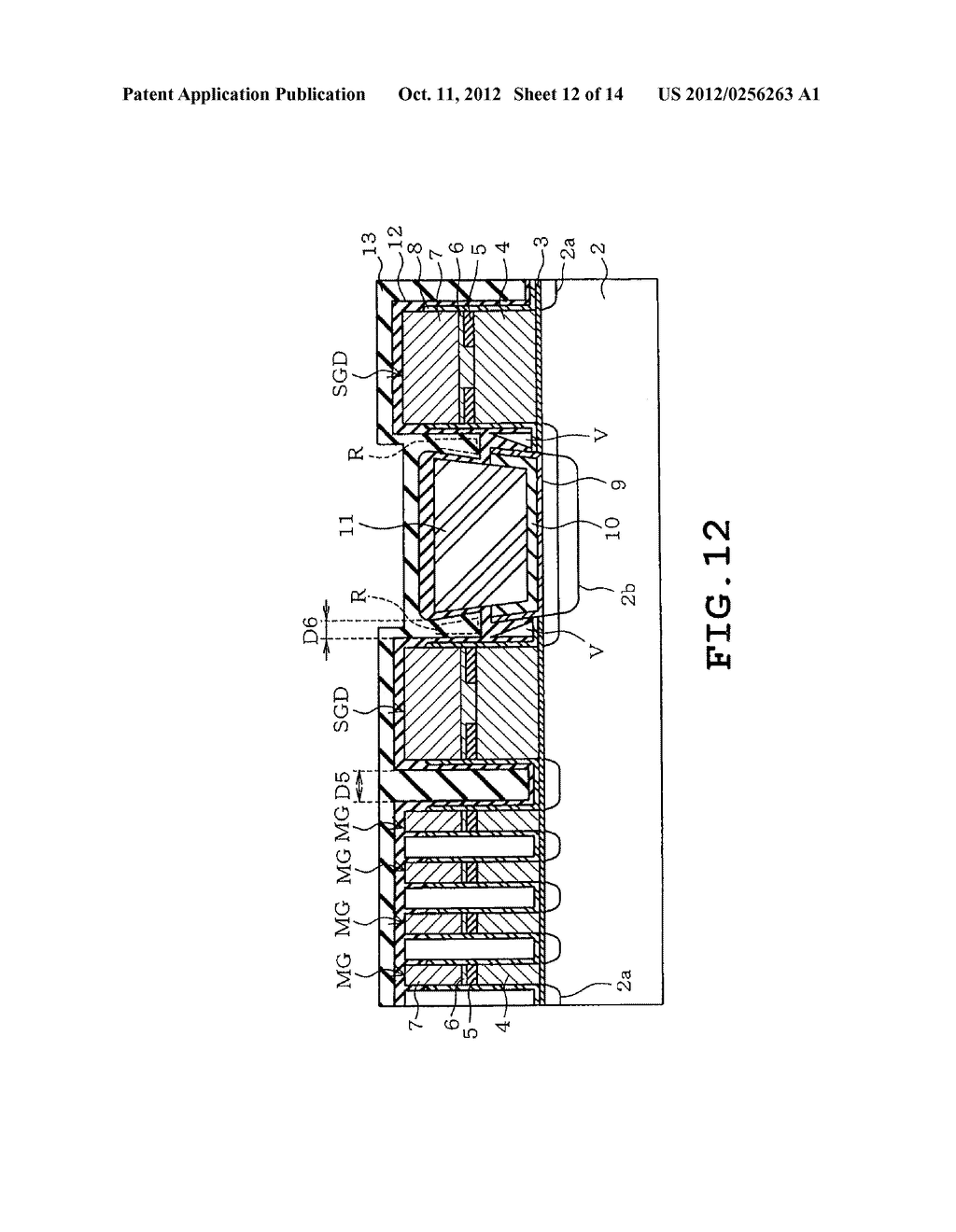 SEMICONDUCTOR STORAGE DEVICE AND METHOD OF MANUFACTURING THE SAME - diagram, schematic, and image 13