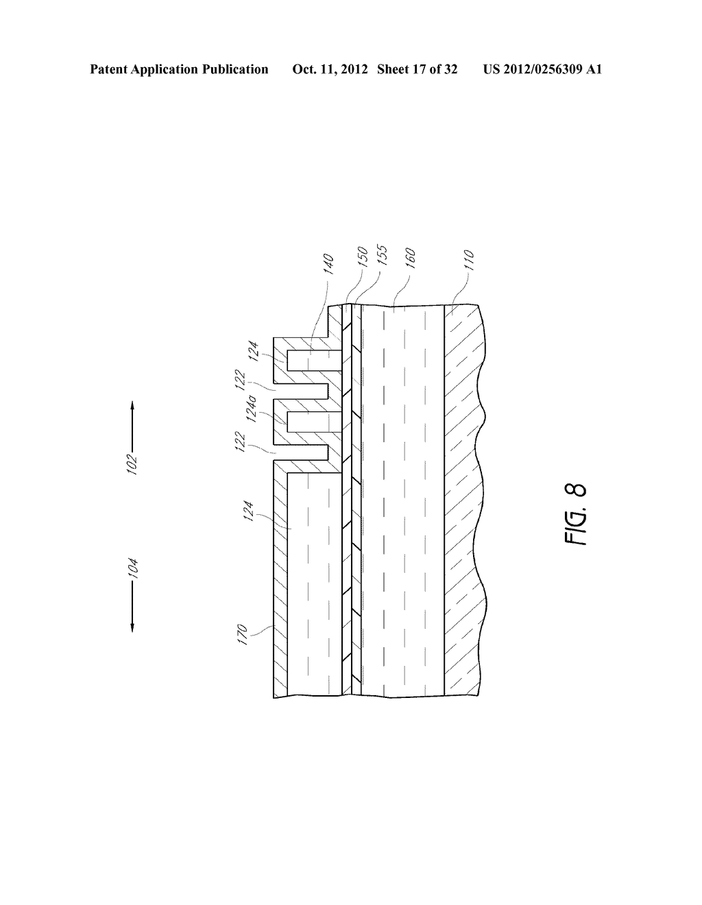 Integrated Circuit Having Pitch Reduced Patterns Relative To What Is An 18 Photolithography Features Diagram Schematic And Image